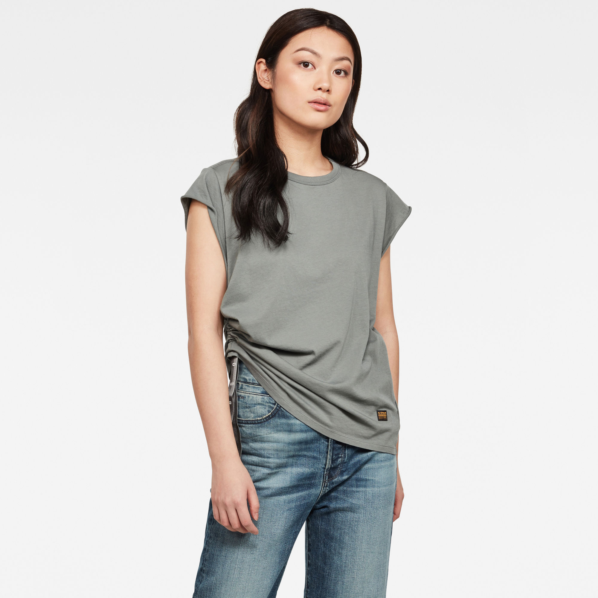 G-Star RAW Dames GSRAW Knotted Top Grijs