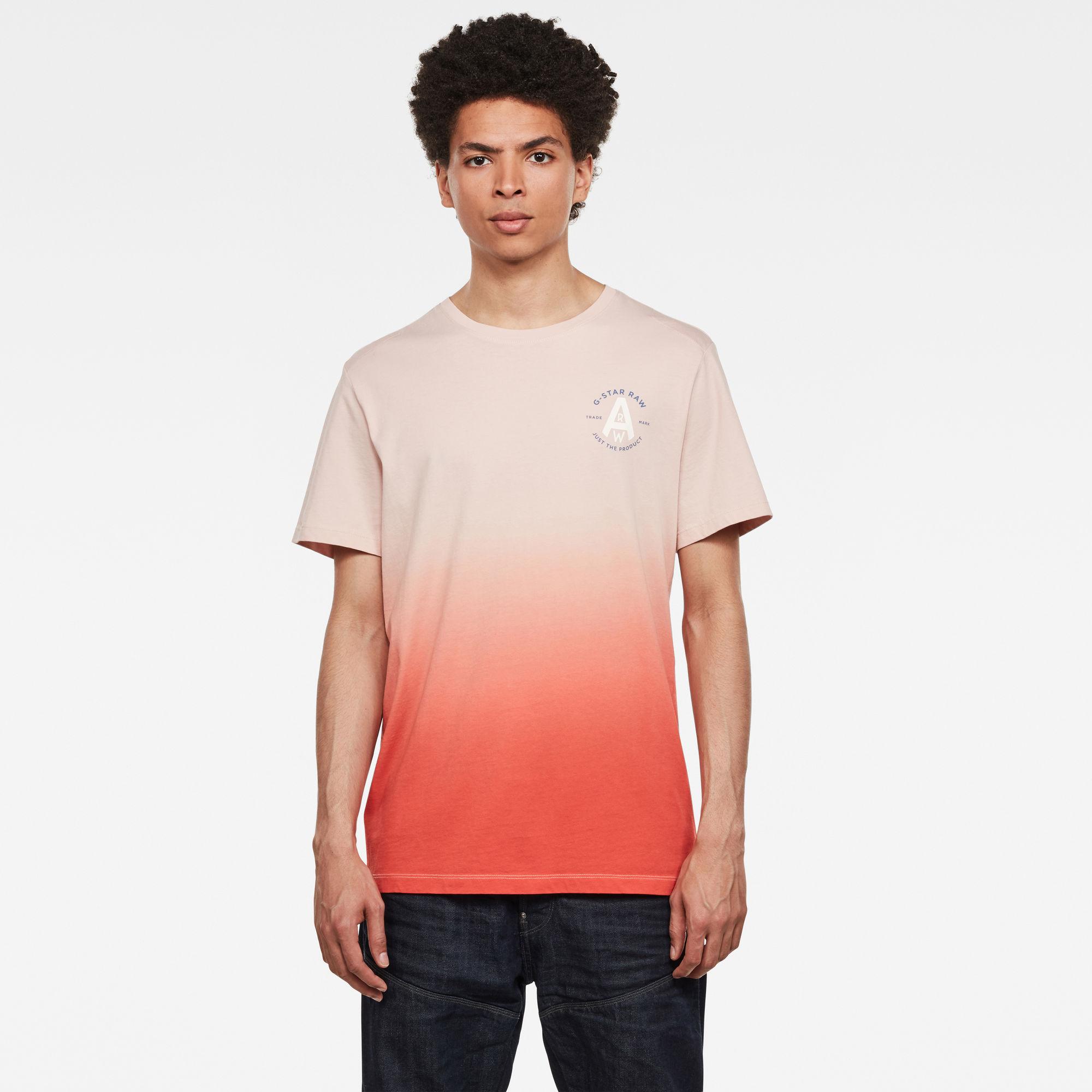 Logo GR Dip Dye T-Shirt Roze