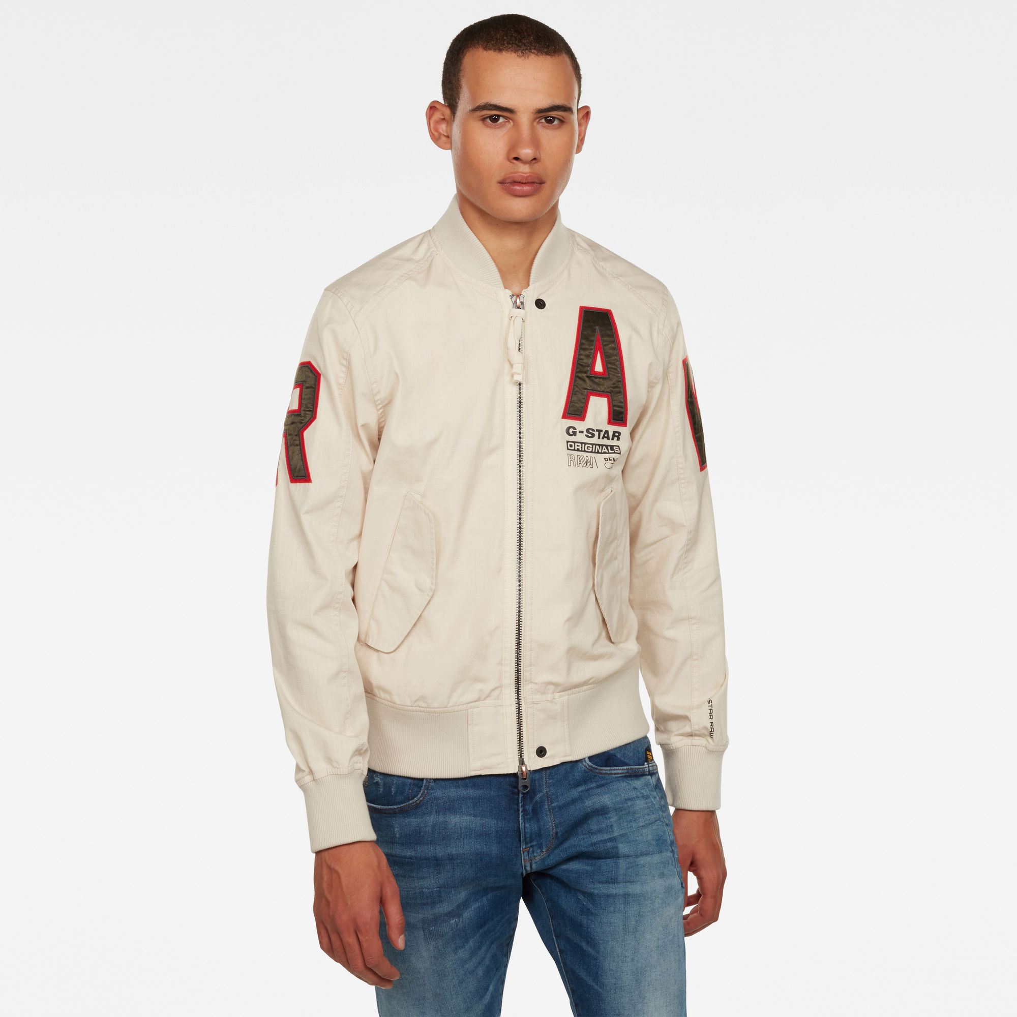 G Star RAW Heren Arris Unpadded Artwork Bomberjack Beige