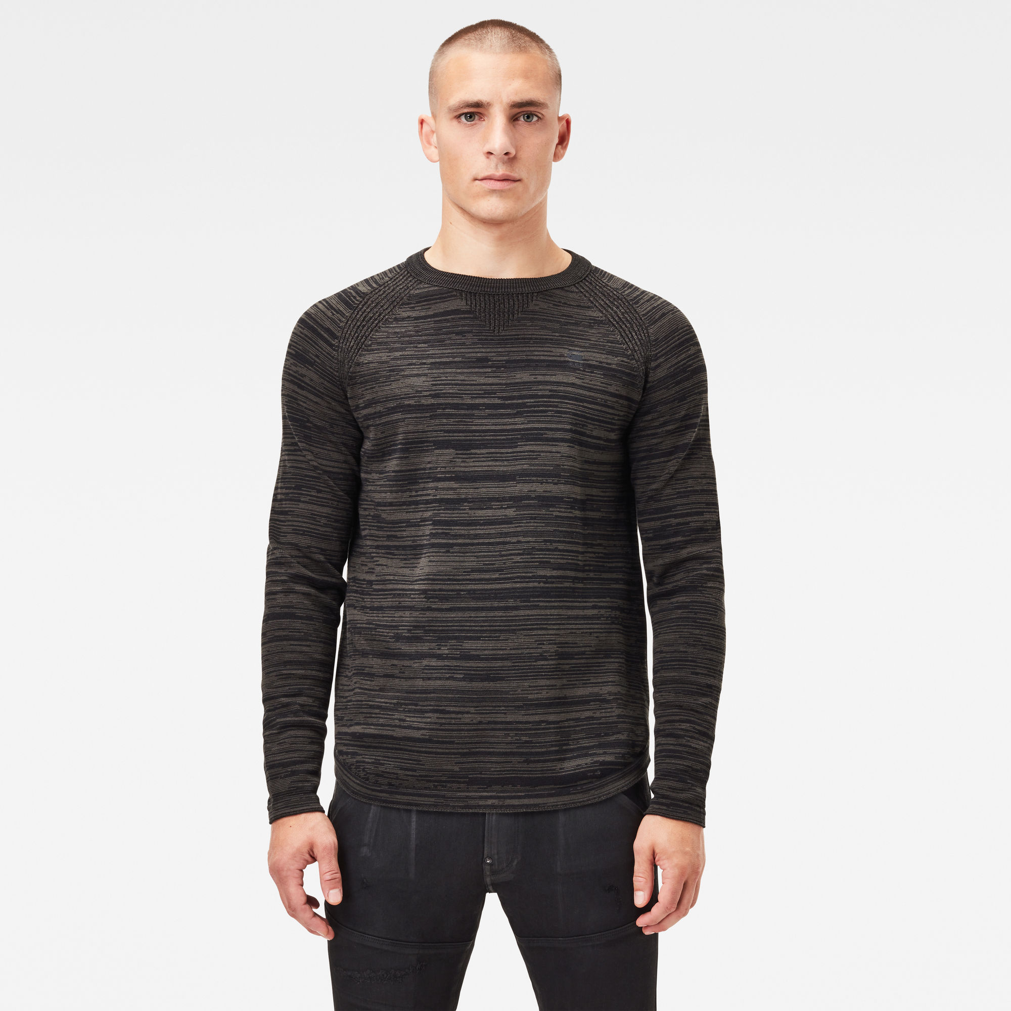 G-Star RAW Hommes Pull Core Solli Straight Noir