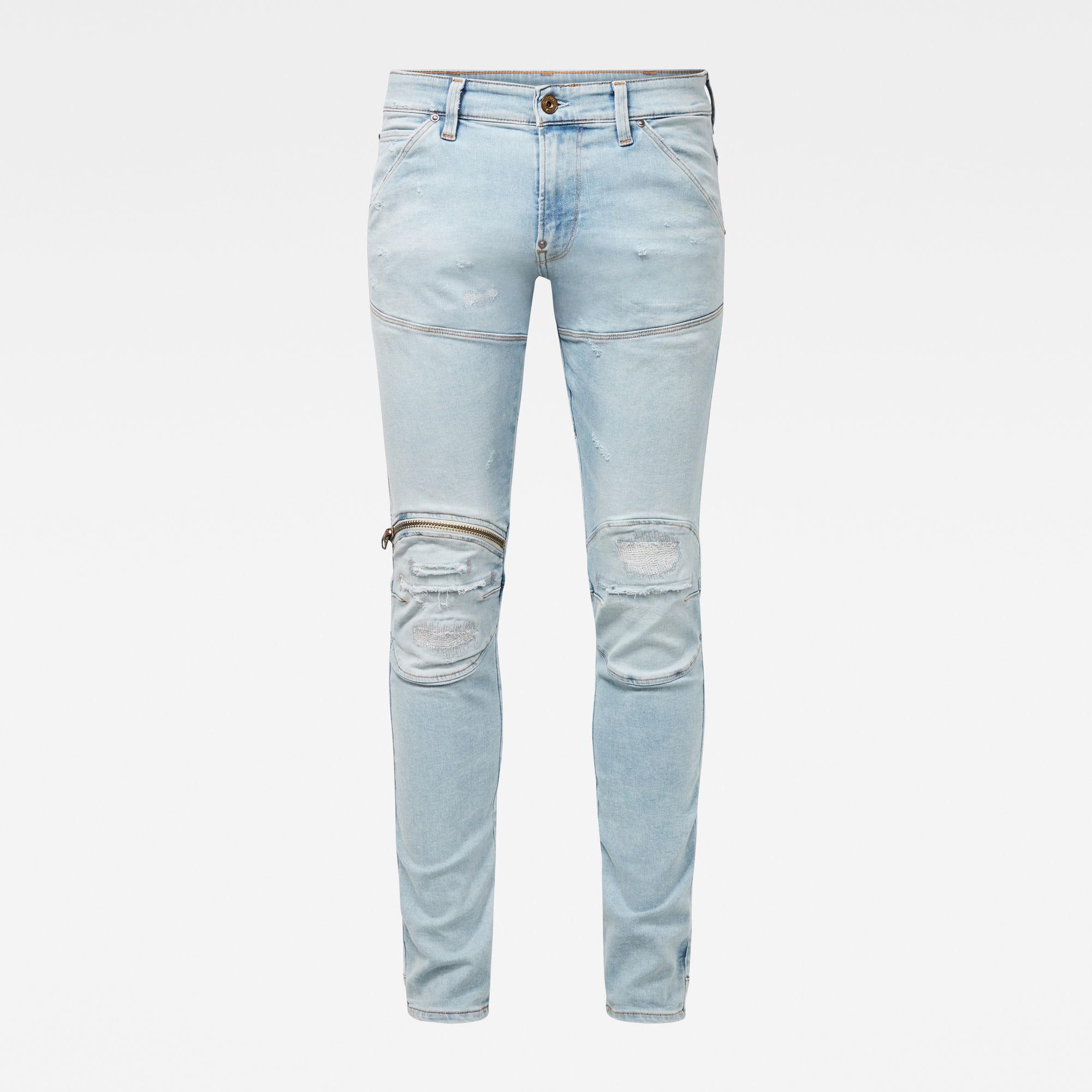 g star raw hombre jeans 5620 3d zip knee skinny 3