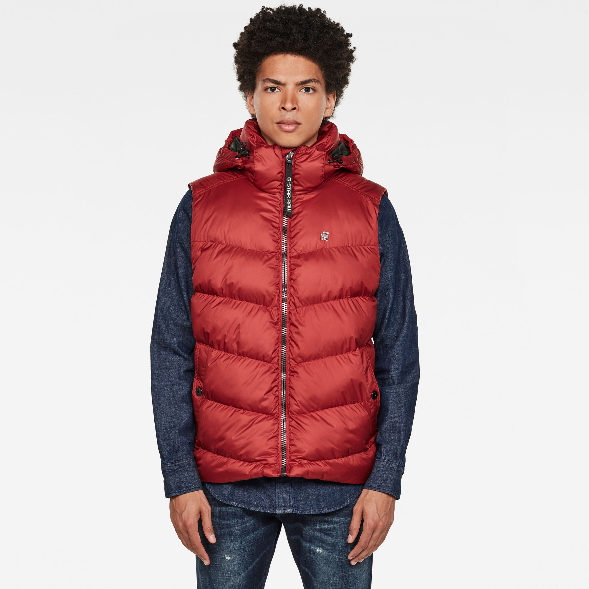 G-Star RAW Hombre Chaleco Whistler Hooded