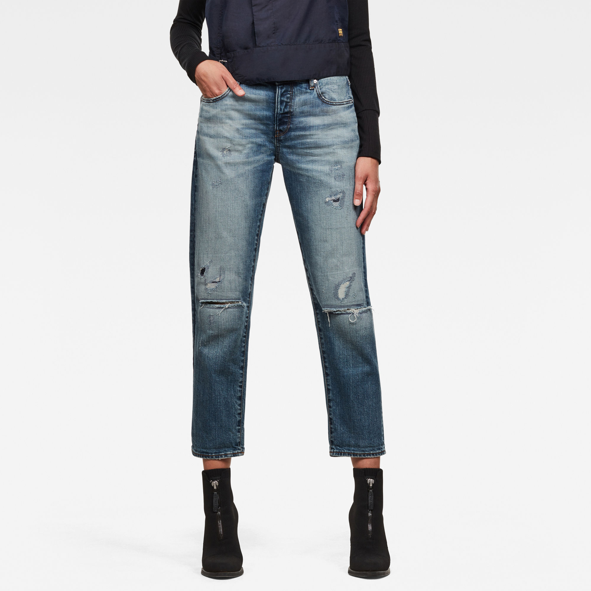 G-Star RAW Dames Kate Boyfriend C Jeans Blauw