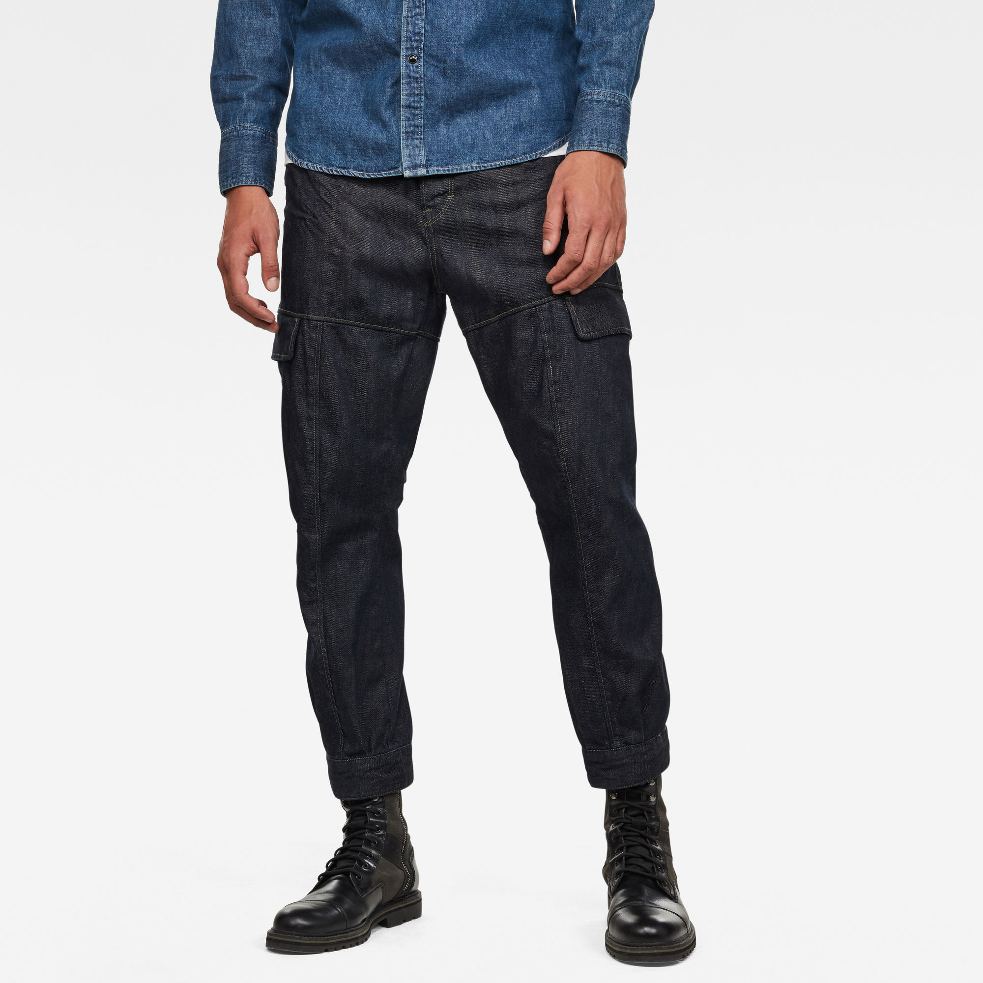 G-Star RAW Heren GSRR Hito Relaxed Tapered Broek Donkerblauw