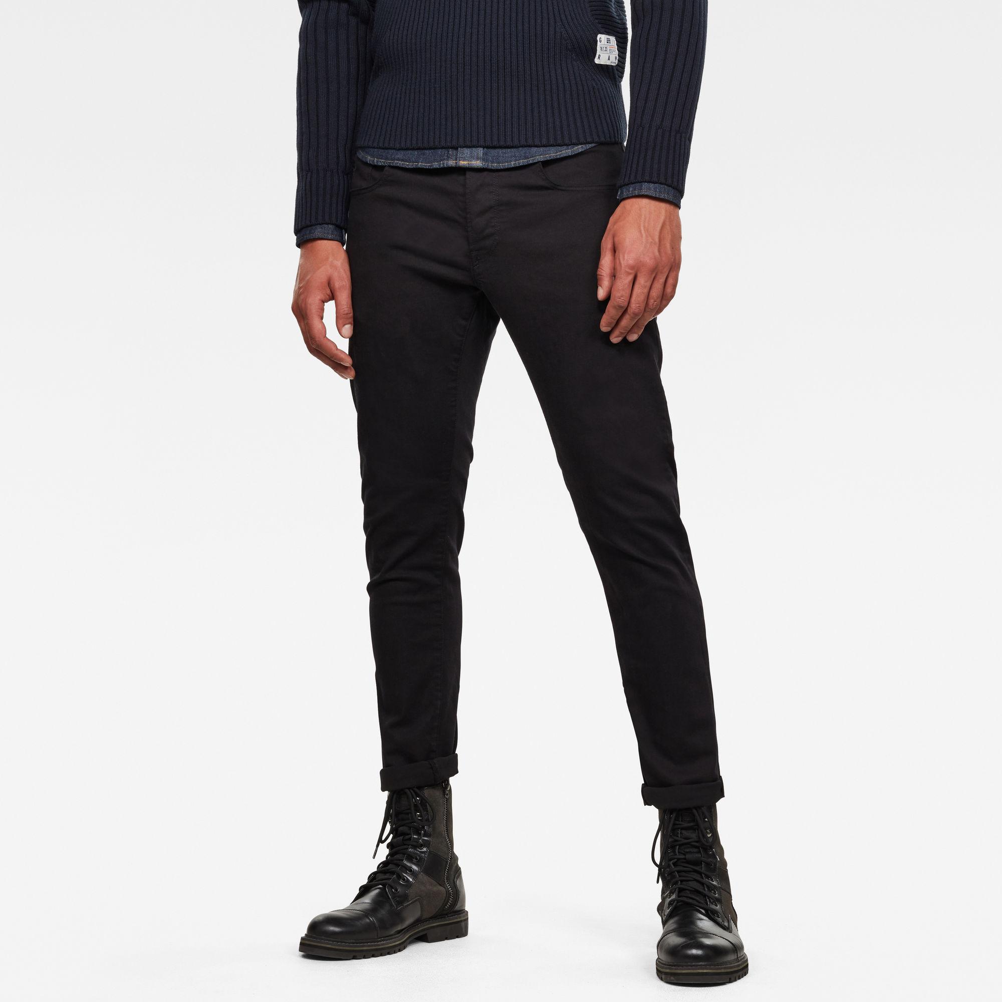 3301 Slim Jeans Zwart