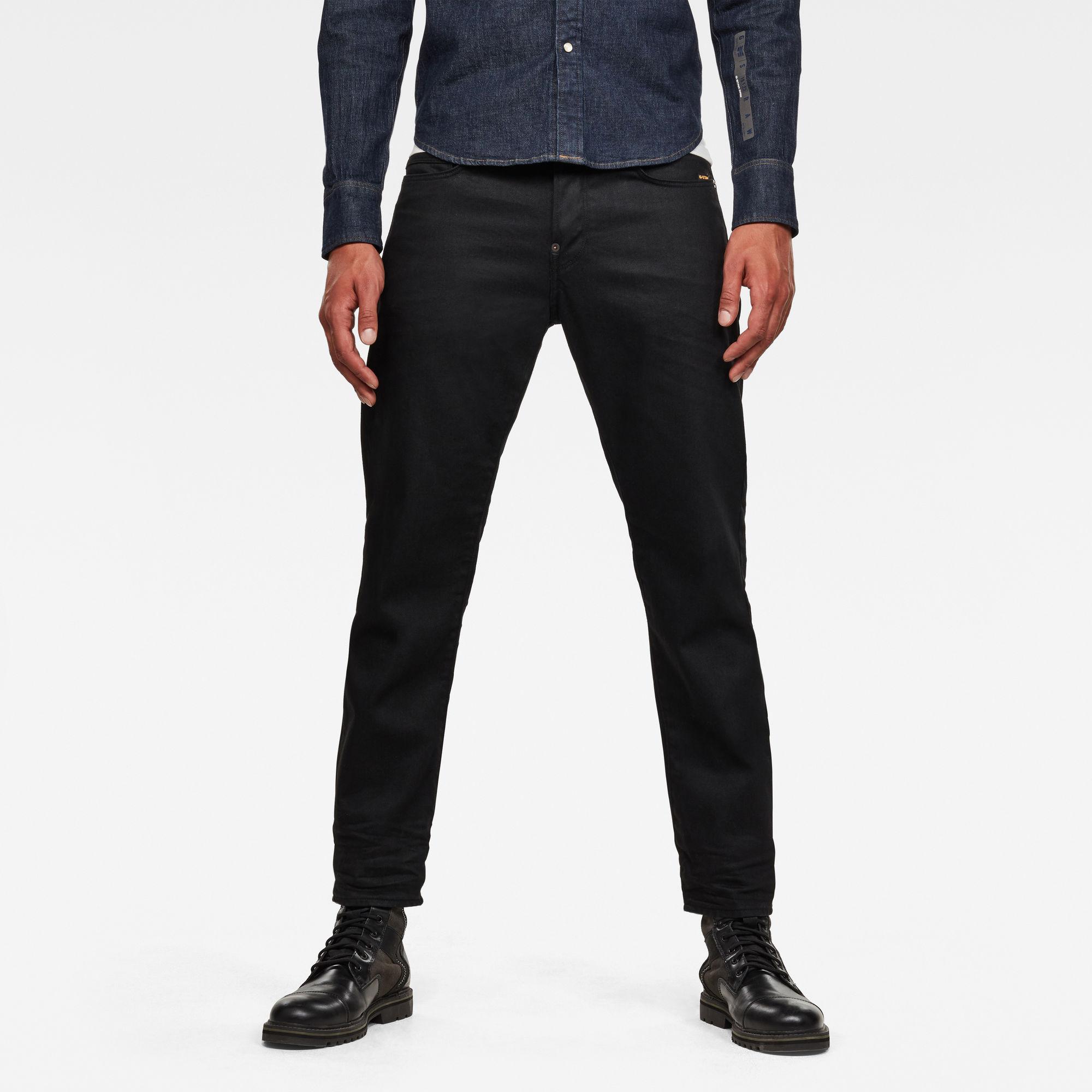 G-Star RAW Heren Alum Relaxed Tapered Originals Jeans Zwart
