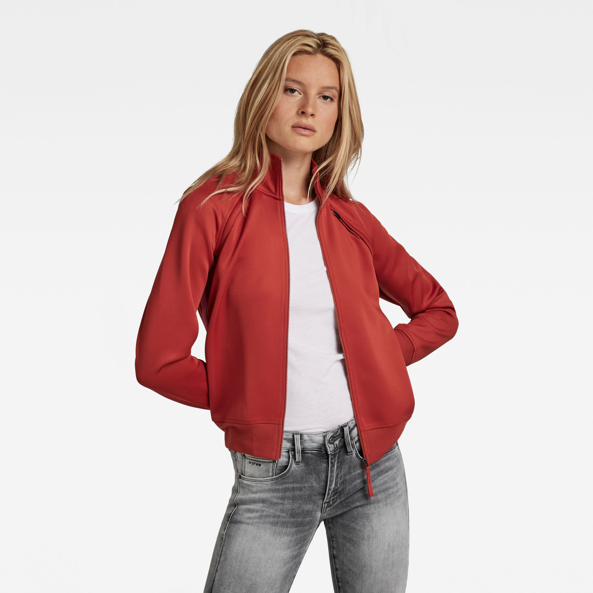 G-Star RAW Dames Branded Tape Track Top Rood