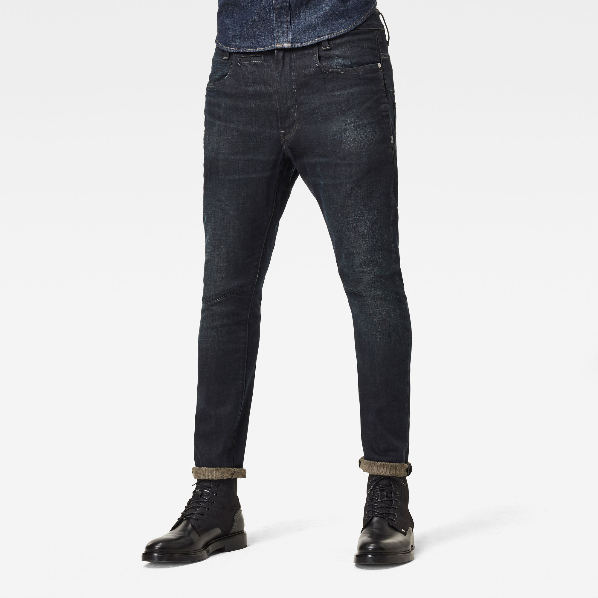 G Star RAW Heren D Staq 3D Slim Wokkie Artwork Donkerblauw