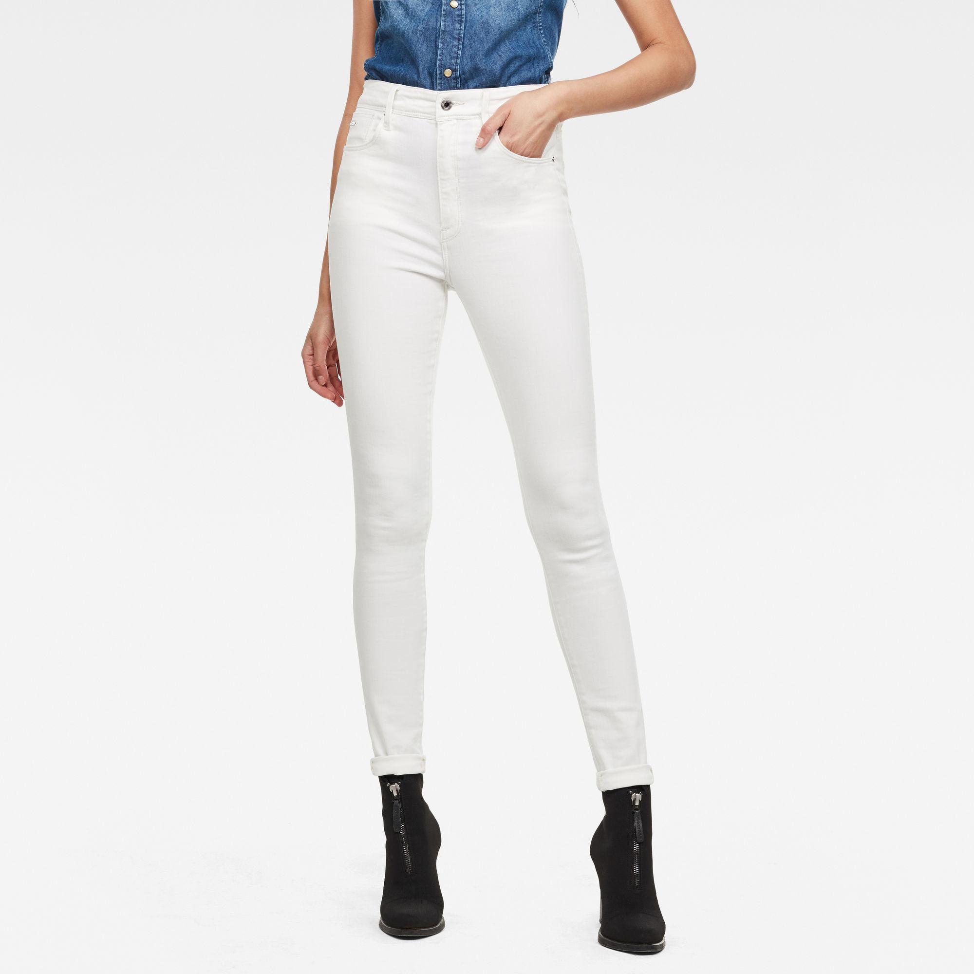 G-Star RAW Dames Kafey Ultra High Skinny Jeans Wit