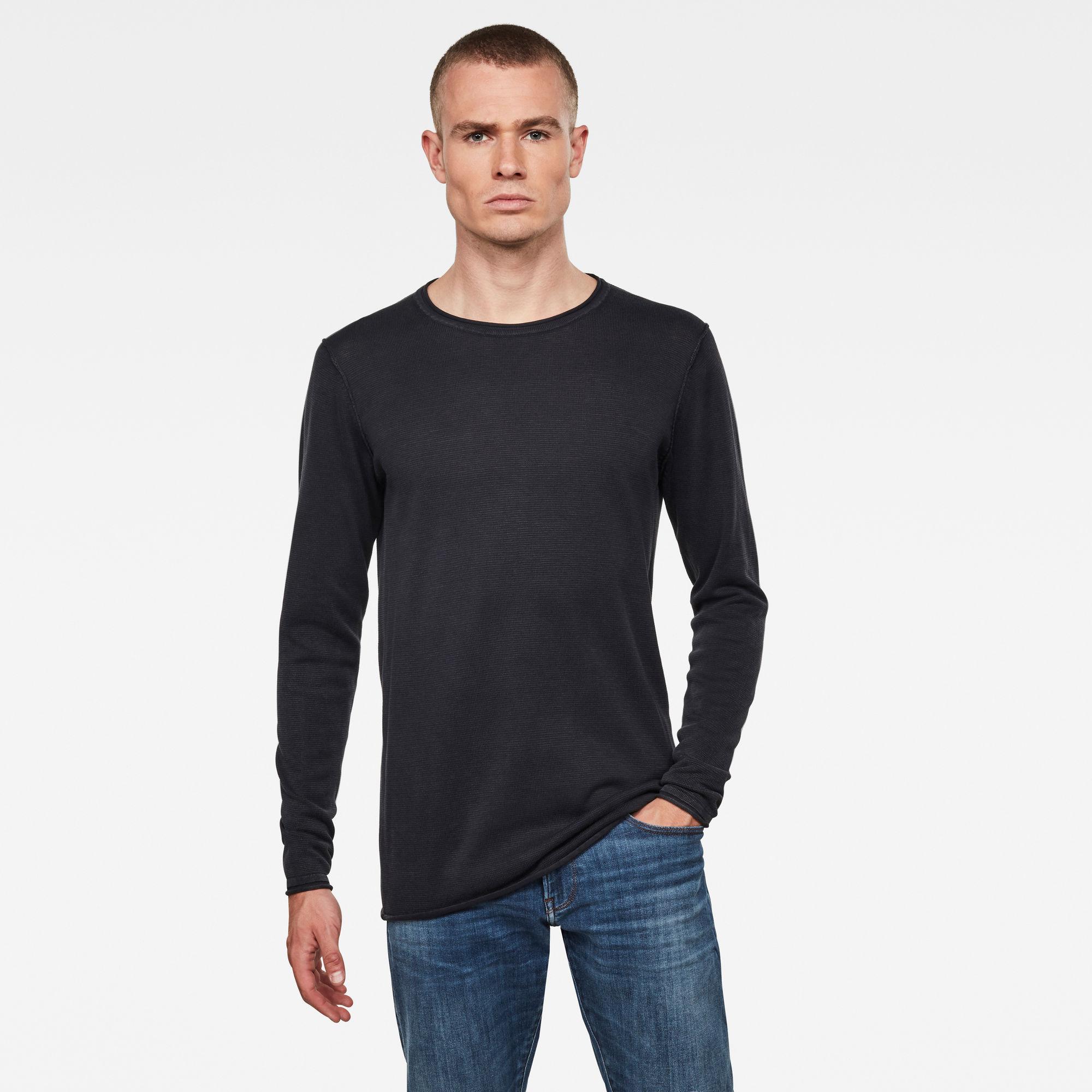 G-Star RAW Heren Bronek Knitted Sweater Zwart
