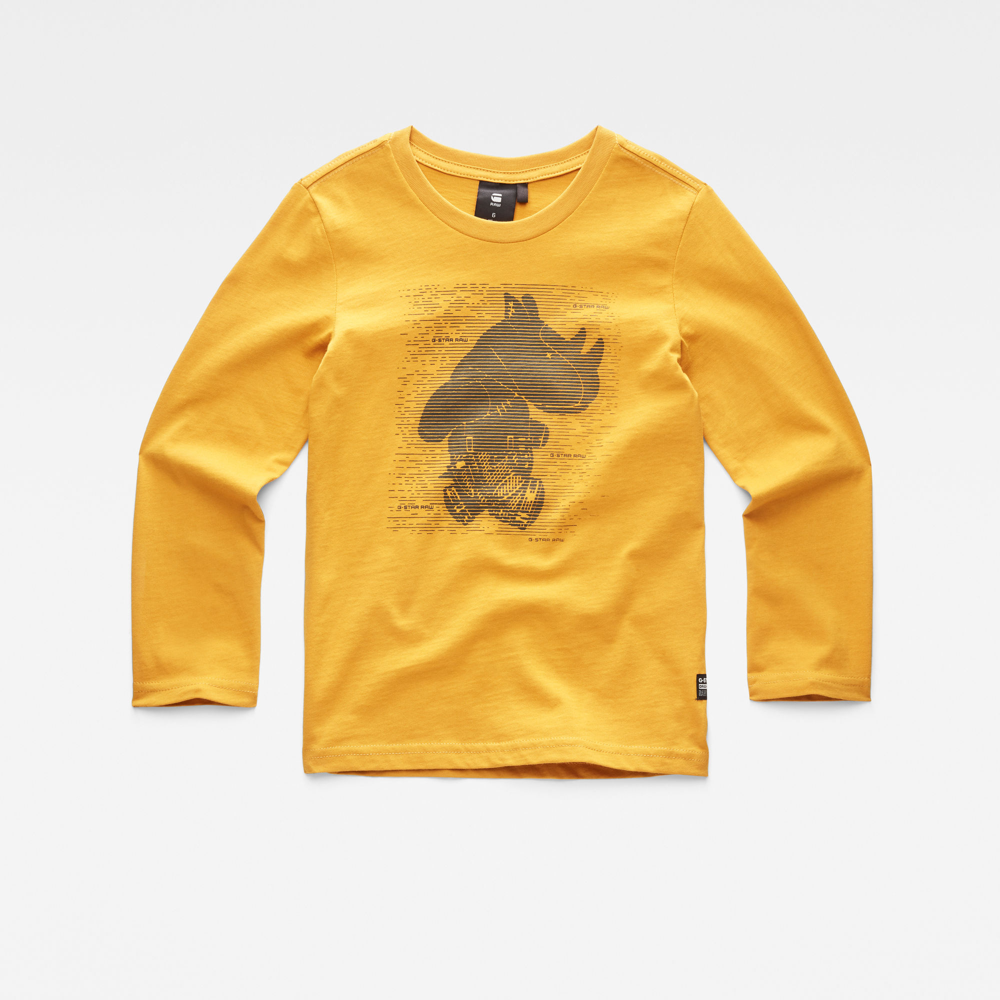G-Star RAW Jongens T-shirt Geel