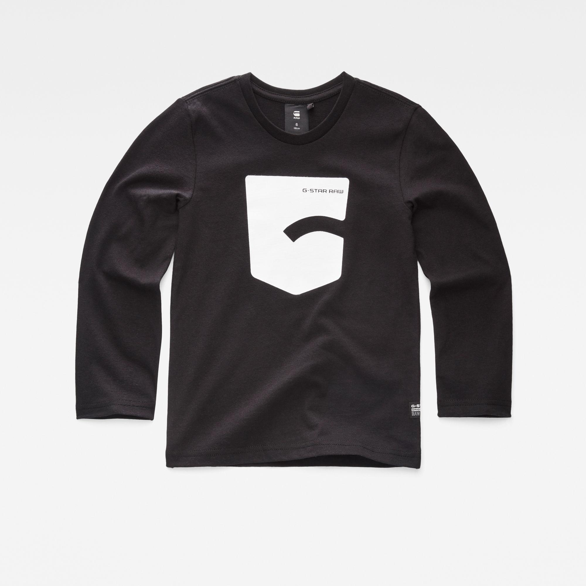 G-Star RAW Jongens T-shirt Zwart