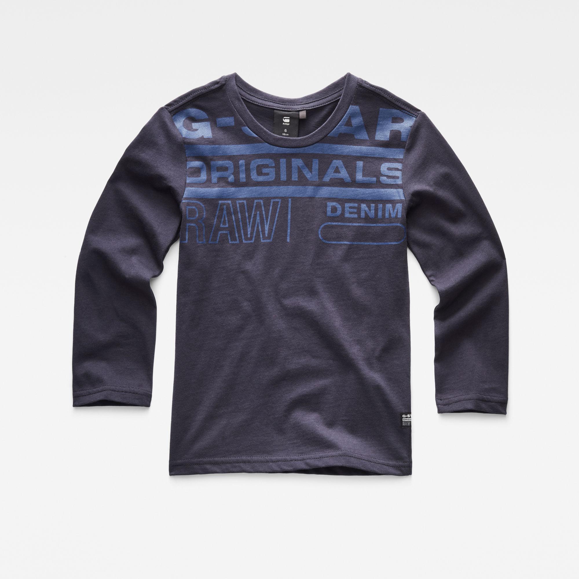 G-Star RAW Jongens T-shirt Donkerblauw
