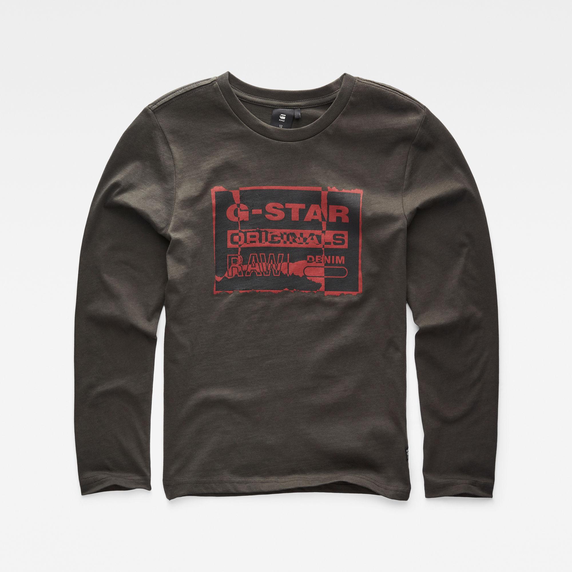 G-Star RAW Jongens T-shirt Grijs