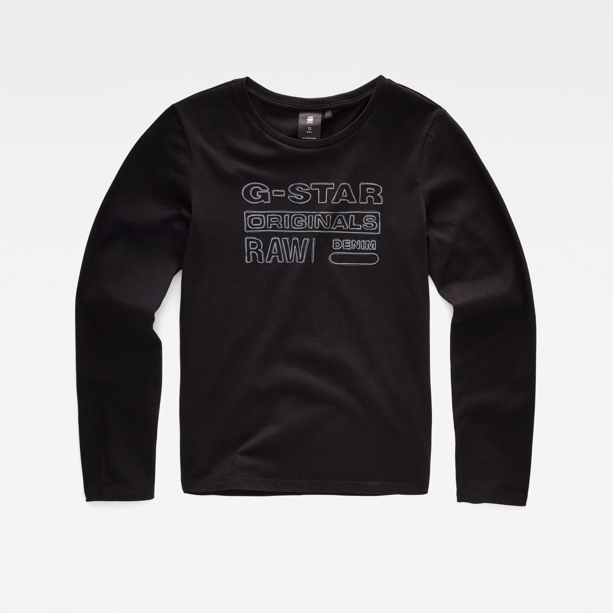 G-Star RAW Meisjes T-shirt Zwart