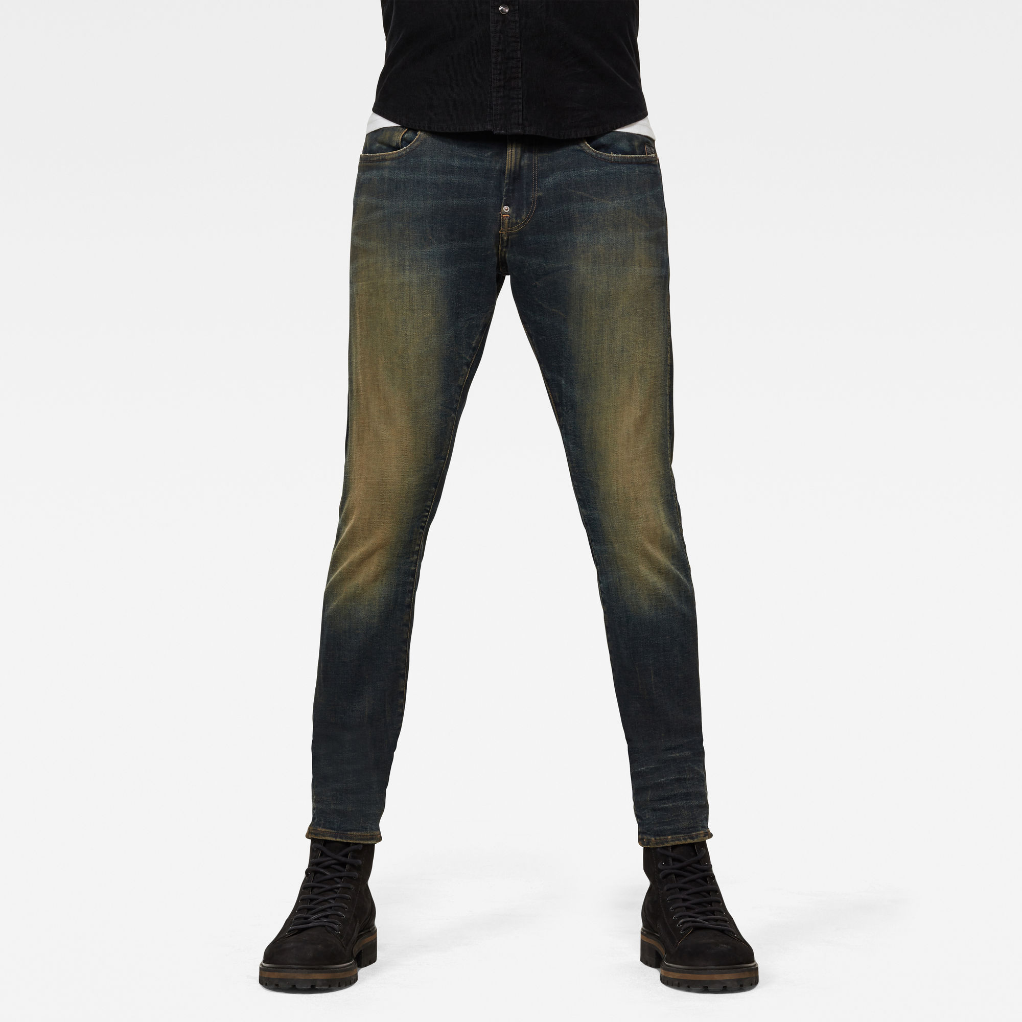 G-Star RAW Heren Revend Skinny Jeans Donkerblauw
