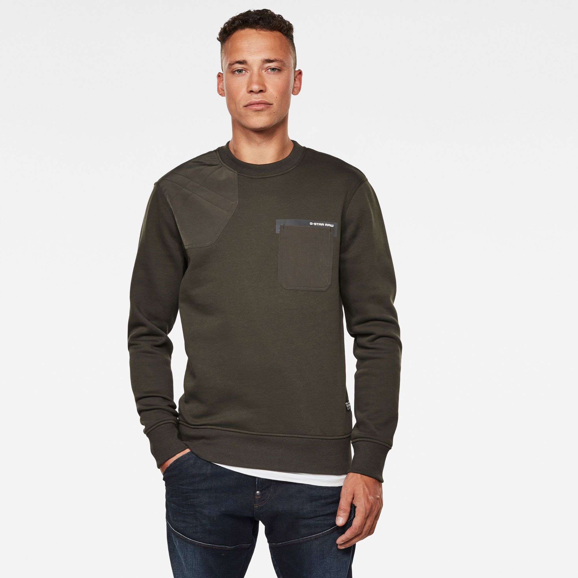 Hunting Patch Sweater Grijs
