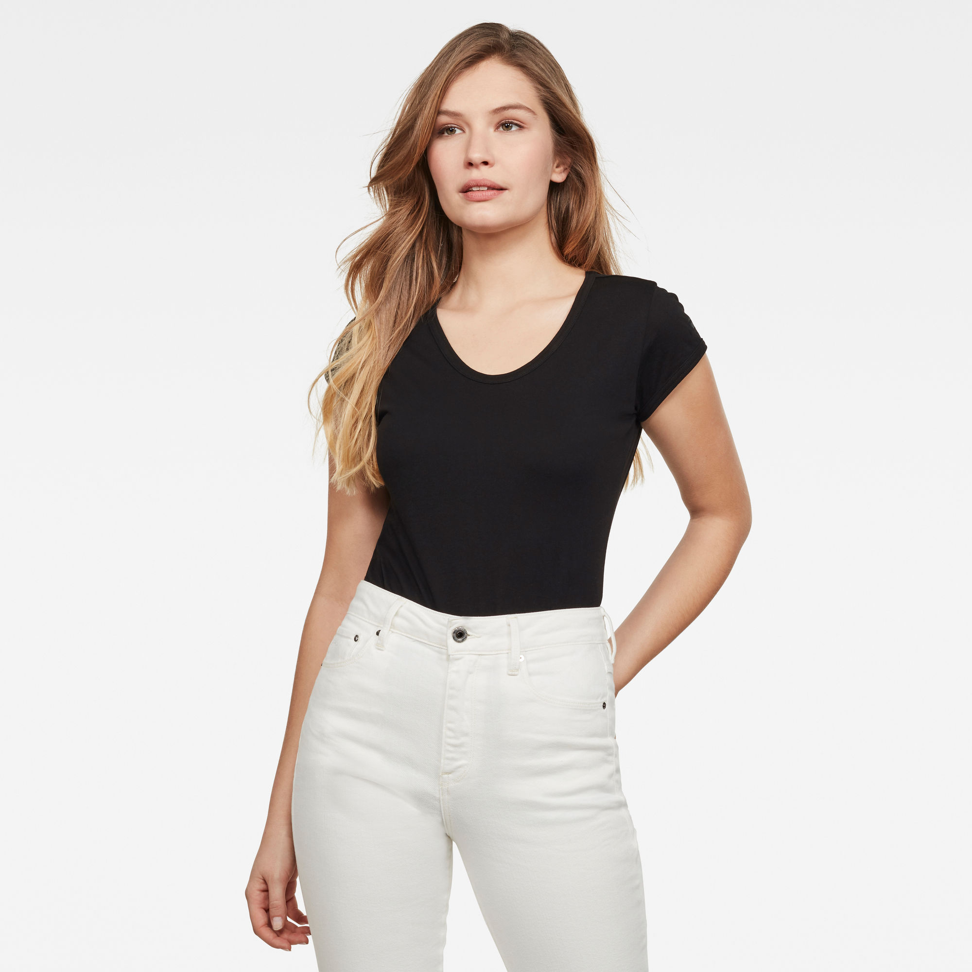 G-Star RAW Dames Core Eyben Slim T-Shirt Zwart