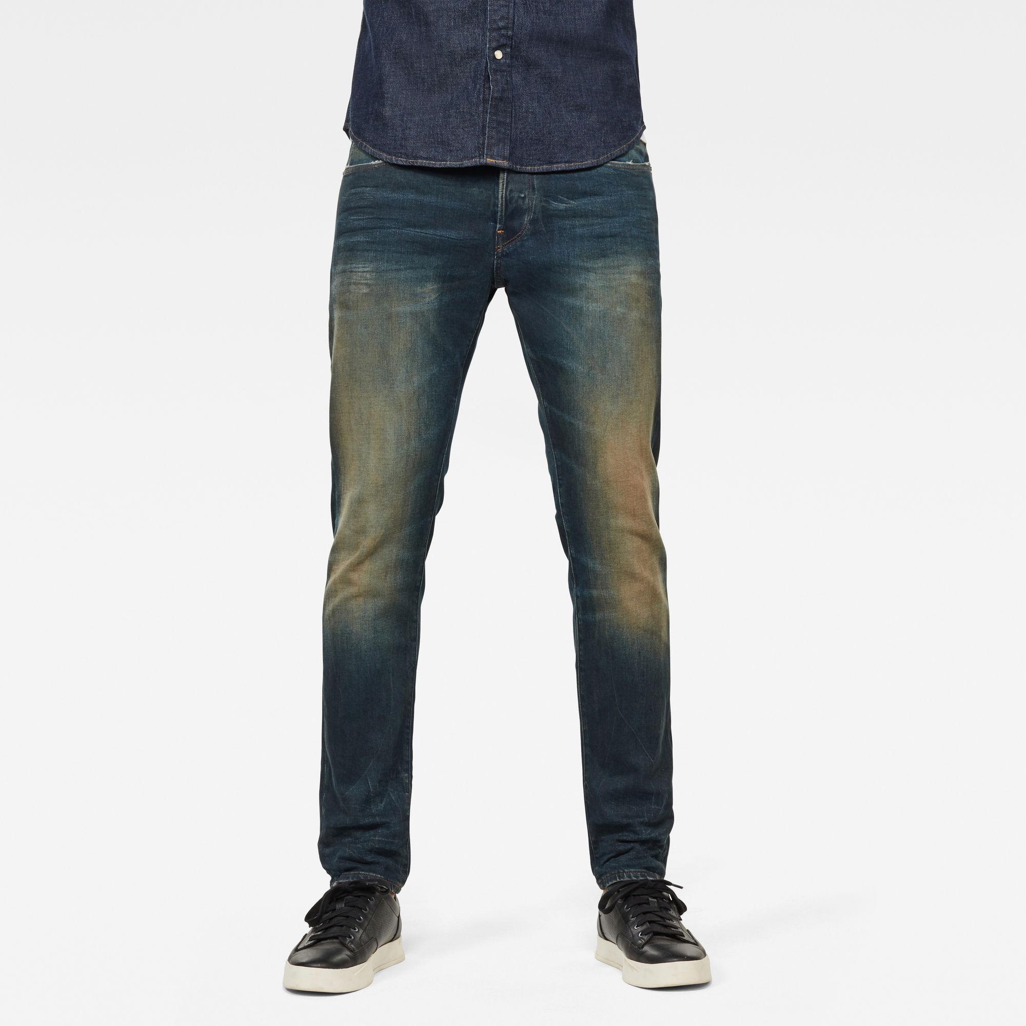 G-Star RAW Heren 3301 Slim Jeans Donkerblauw