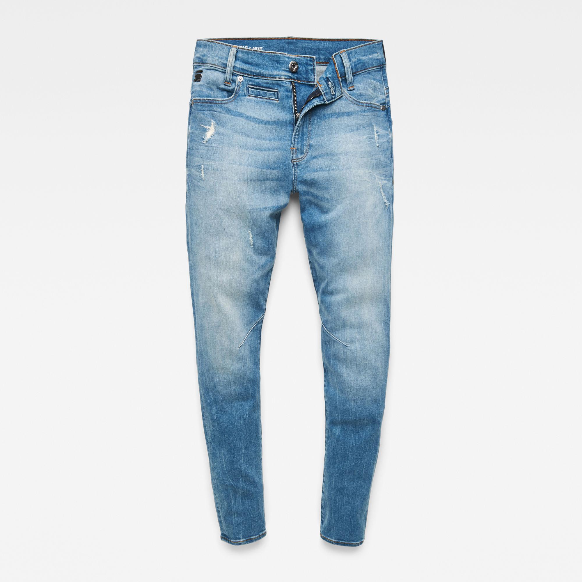 G-Star RAW Jongens D-Staq Tapered jeans Lichtblauw