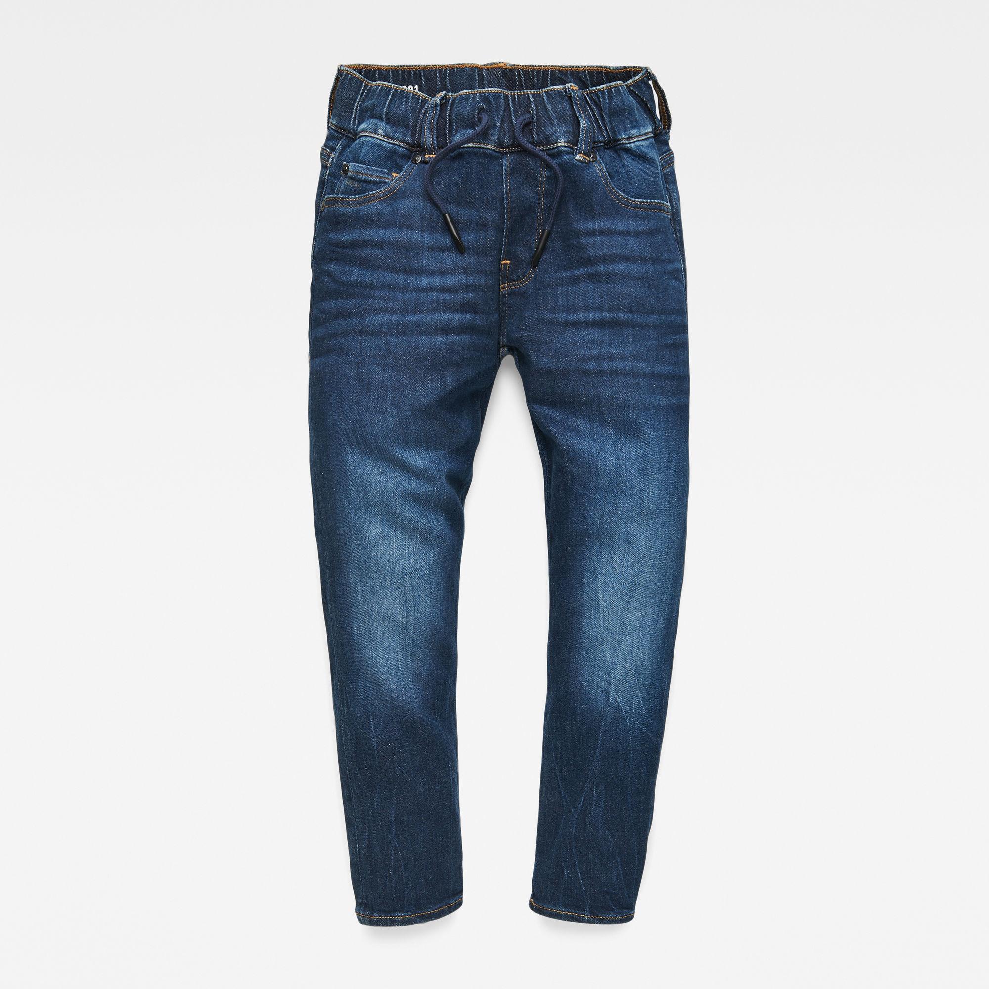 G-Star RAW Jongens 3301 Slim pull-up jeans Blauw
