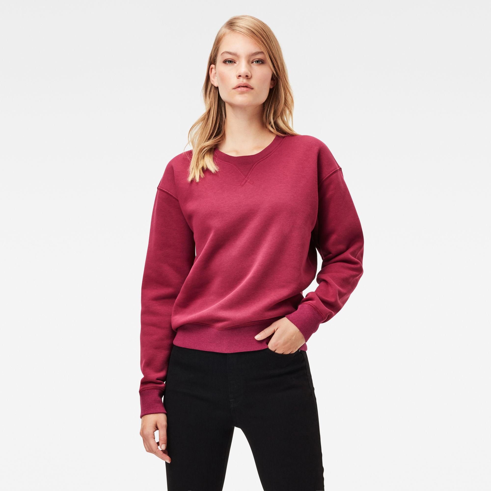 G-Star RAW Dames Premium Core Sweater Rood