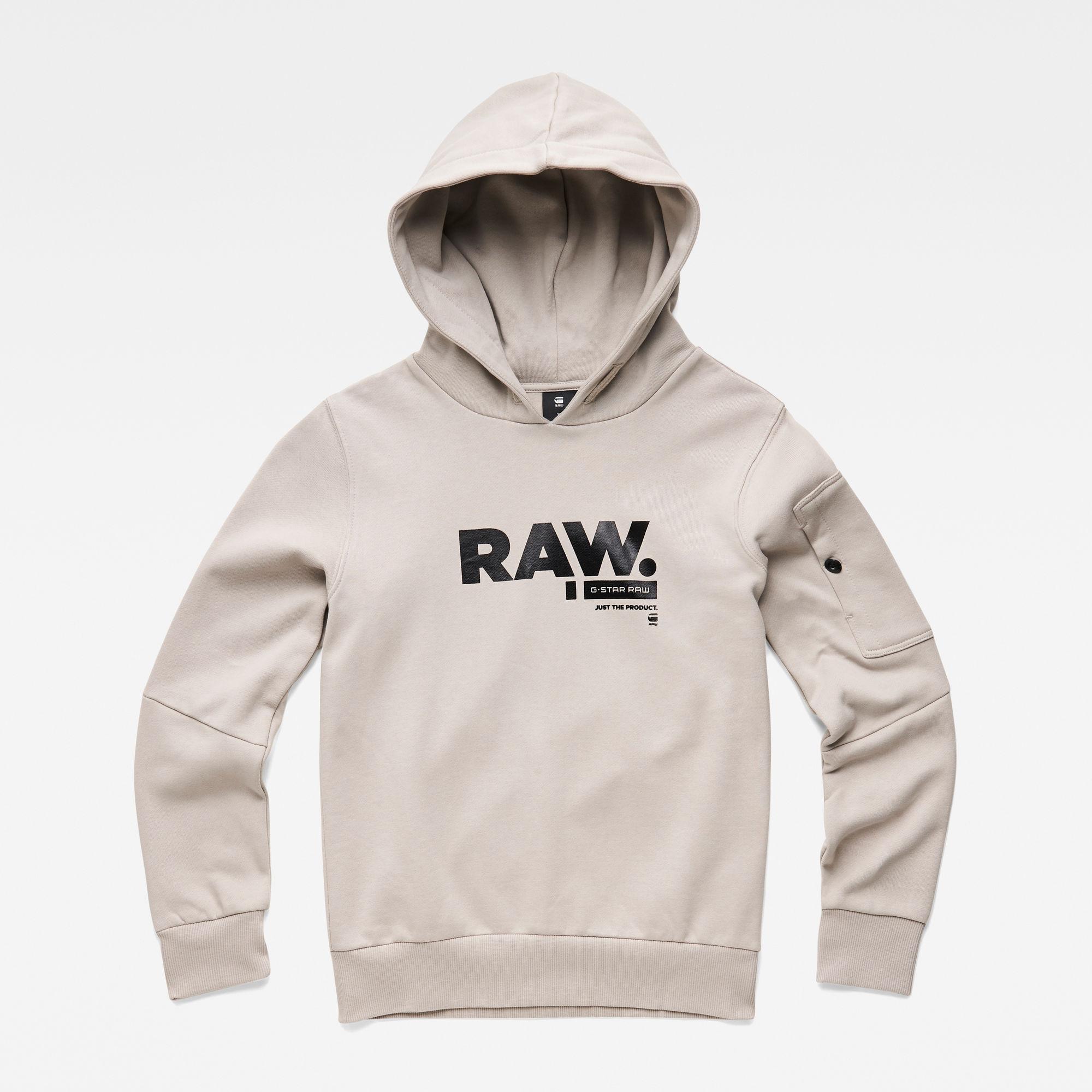 G-Star RAW Jongens Sweater met capuchon Grijs