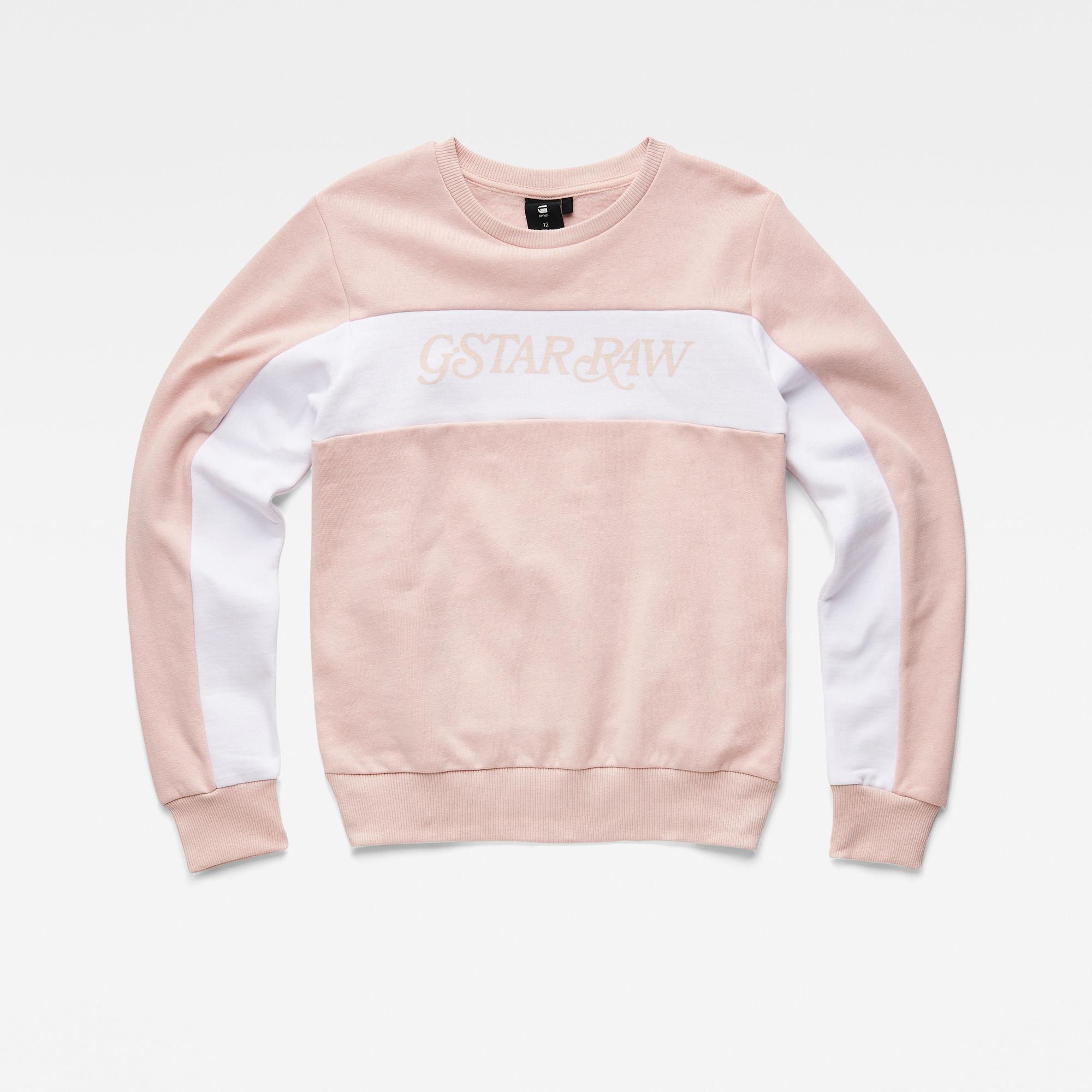 G-Star RAW Meisjes Sweater Roze