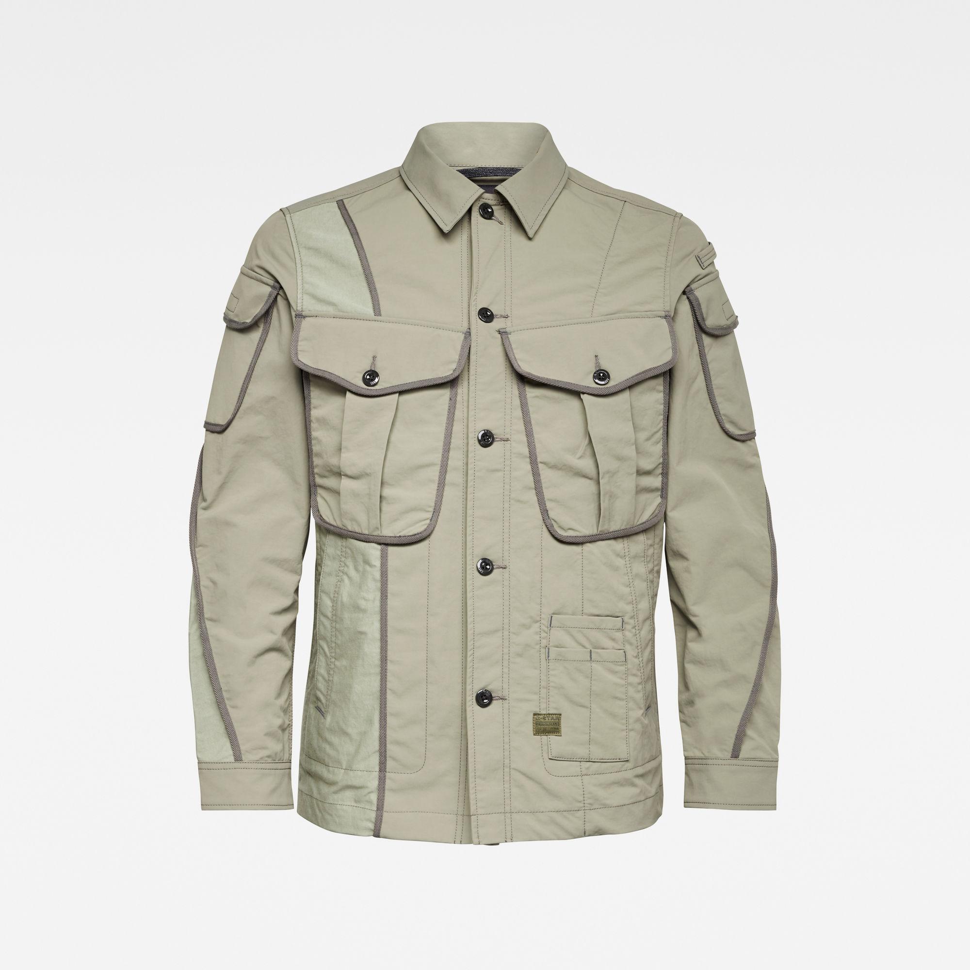 G-Star RAW Heren E Multi Pocket Canvas Indoor Jacket Meerkleurig
