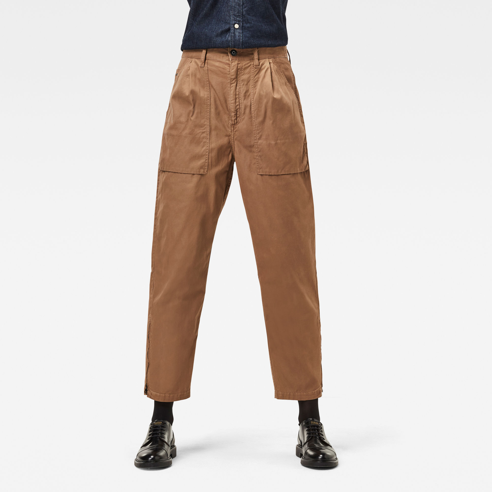 G-Star RAW Dames Archive High 3D Chino Bruin
