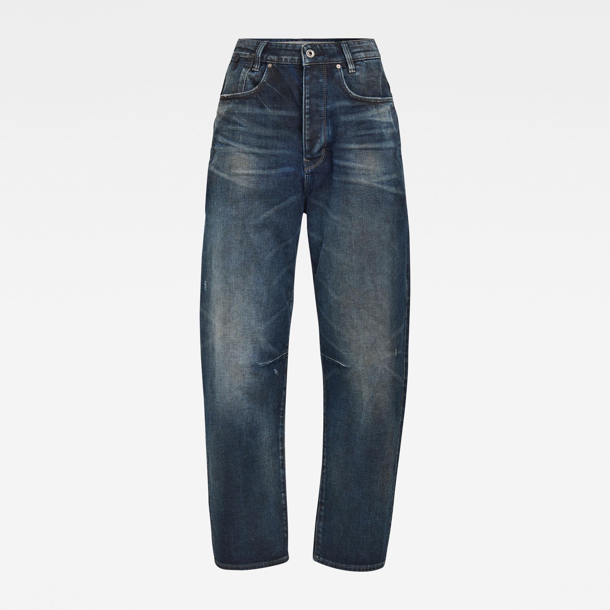 G-Star RAW Dames C-Staq 3D Boyfriend Crop Jeans Donkerblauw