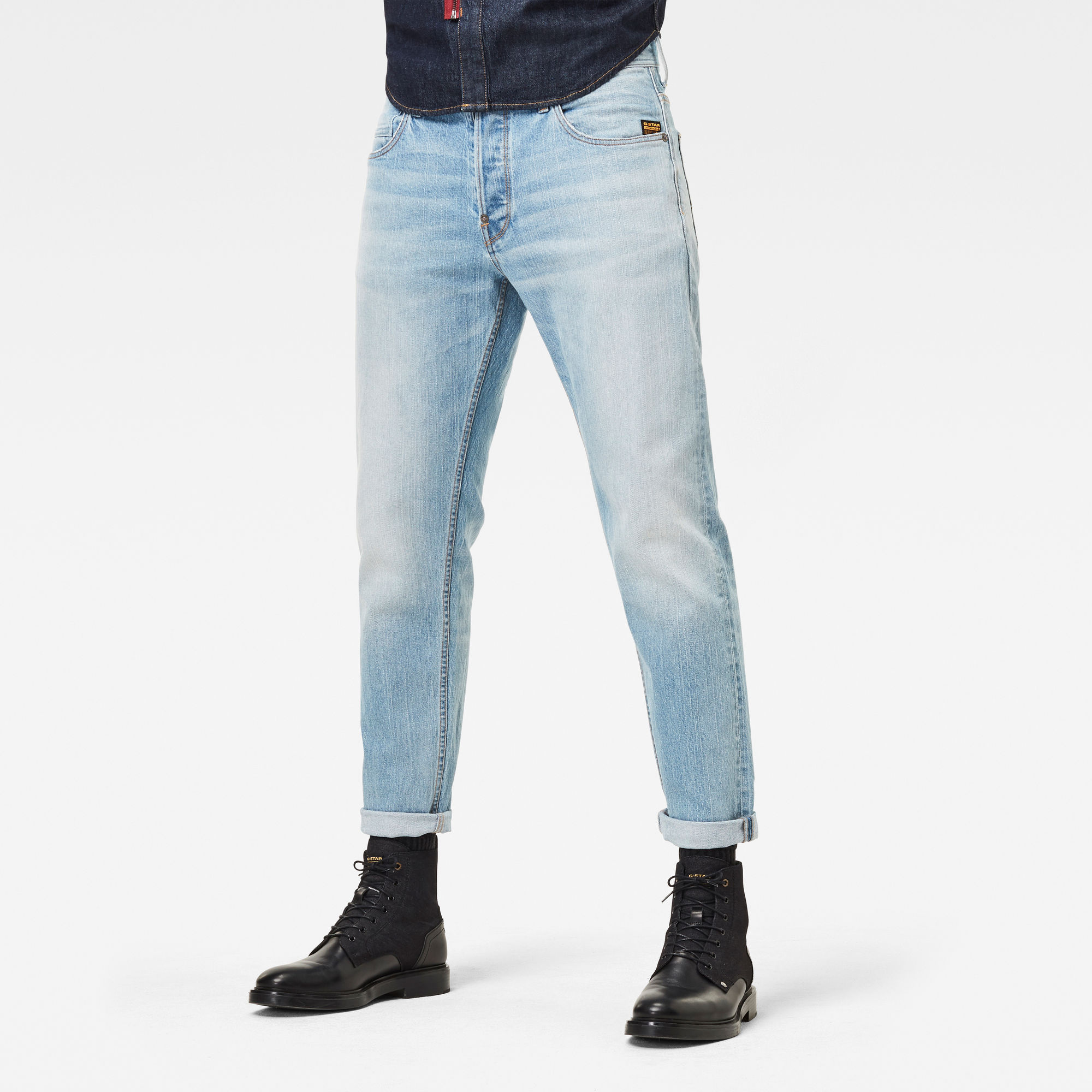 G-Star RAW Heren Alum Relaxed Tapered Jeans Lichtblauw