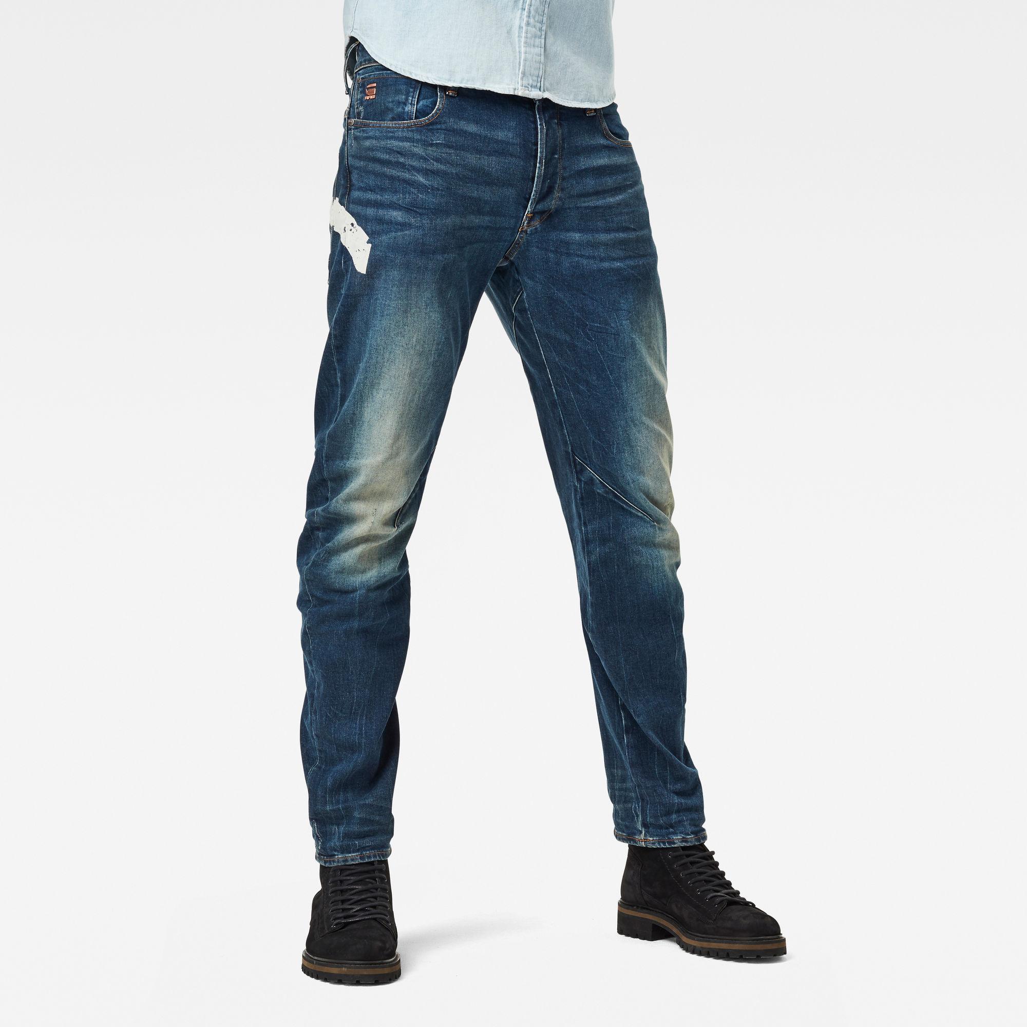 G-Star RAW Heren Arc 3D Slim Wokkie Artwork Jeans Blauw