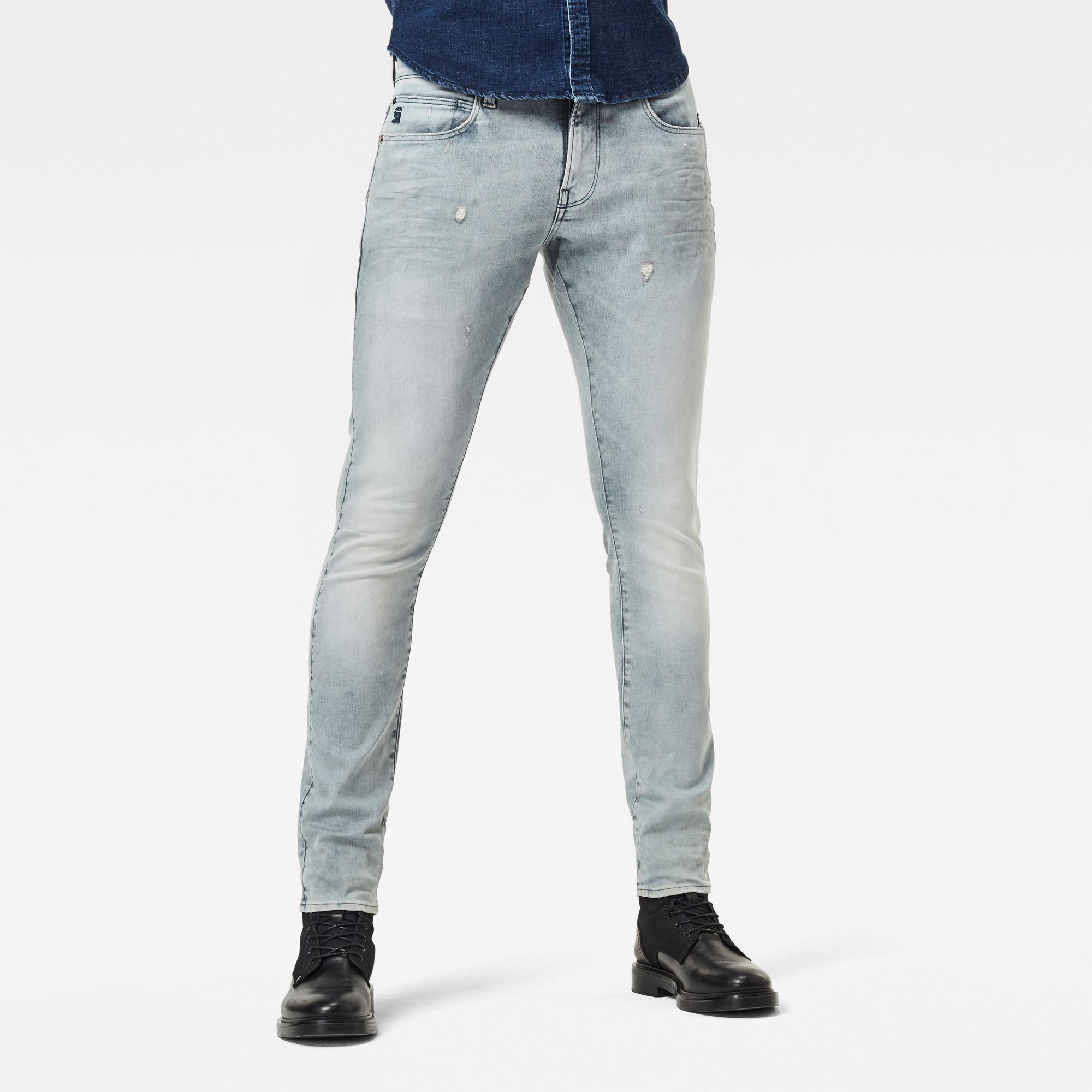 G-Star RAW Heren Lancet Skinny Jeans Grijs