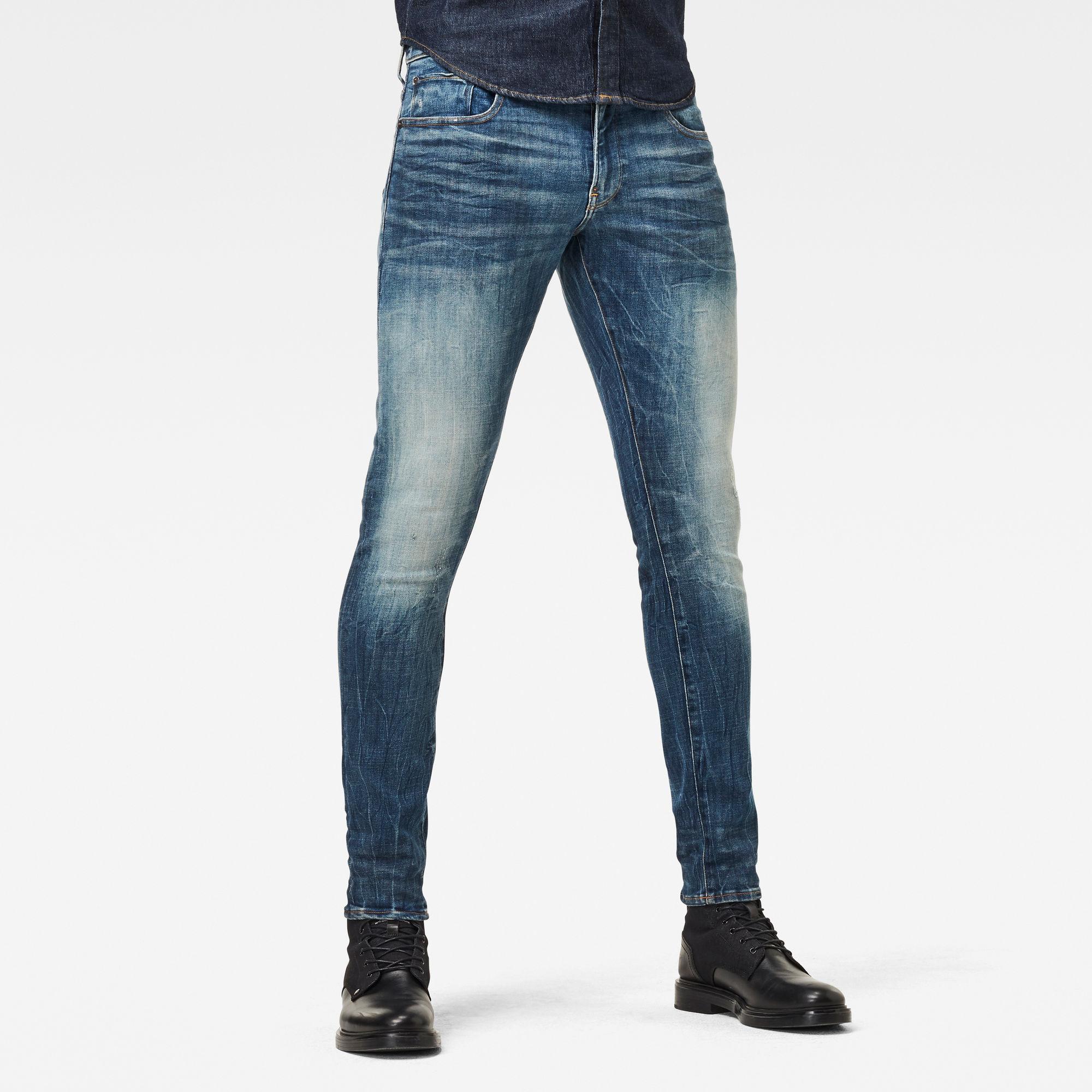 G-Star RAW Heren Revend Skinny Originals Jeans Blauw
