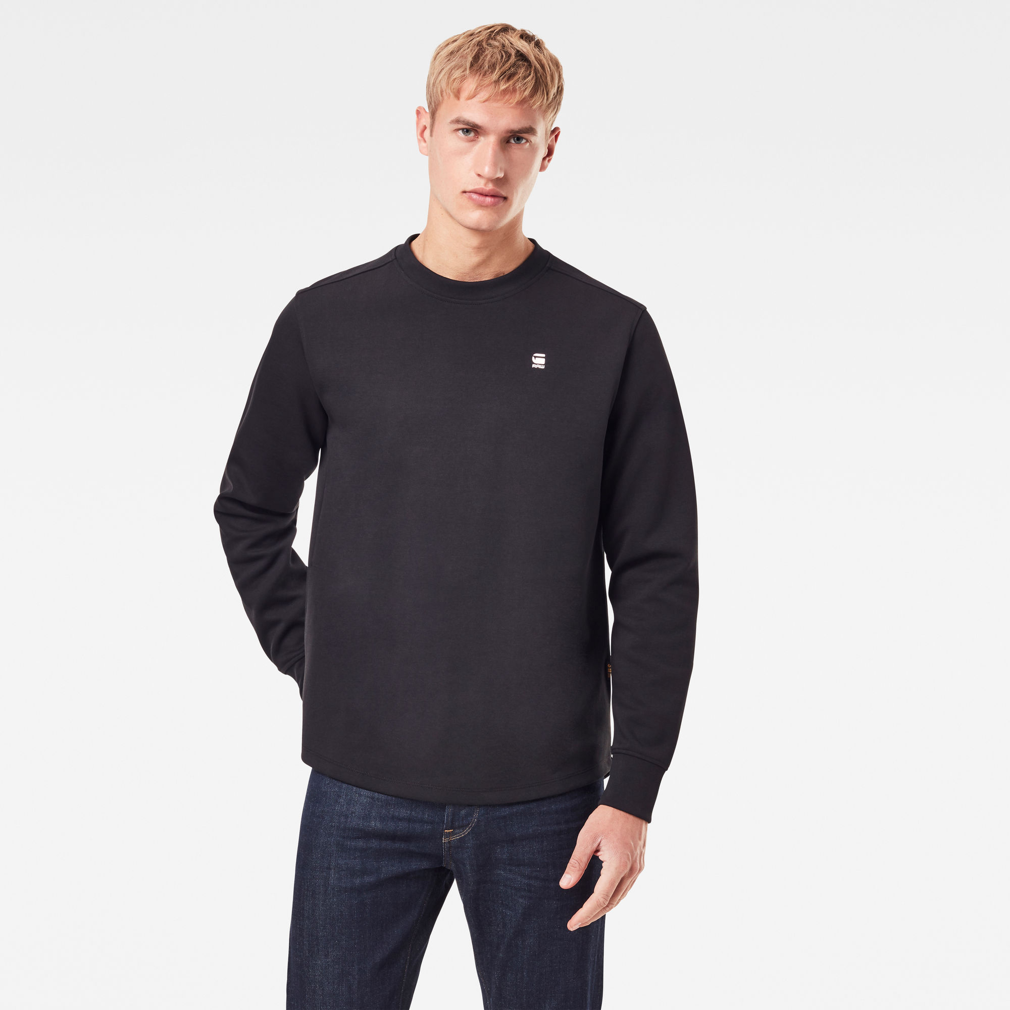 G-Star RAW Heren Lash Sweater Zwart