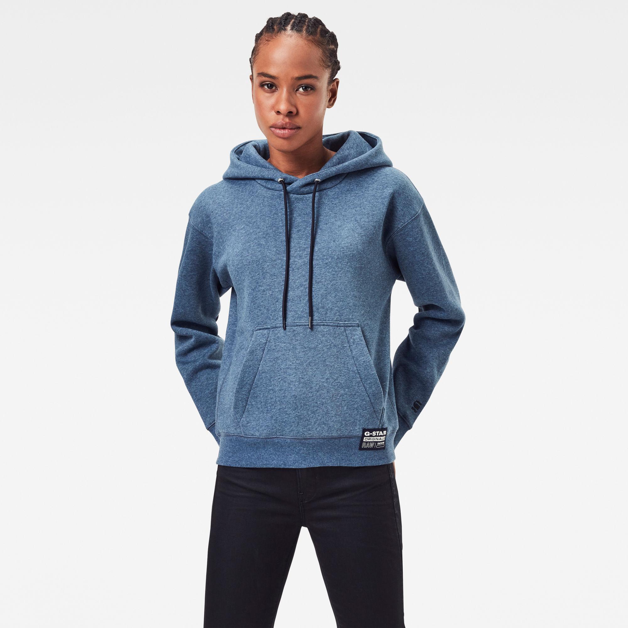 G-Star RAW Dames Premium Core Hoodie Blauw