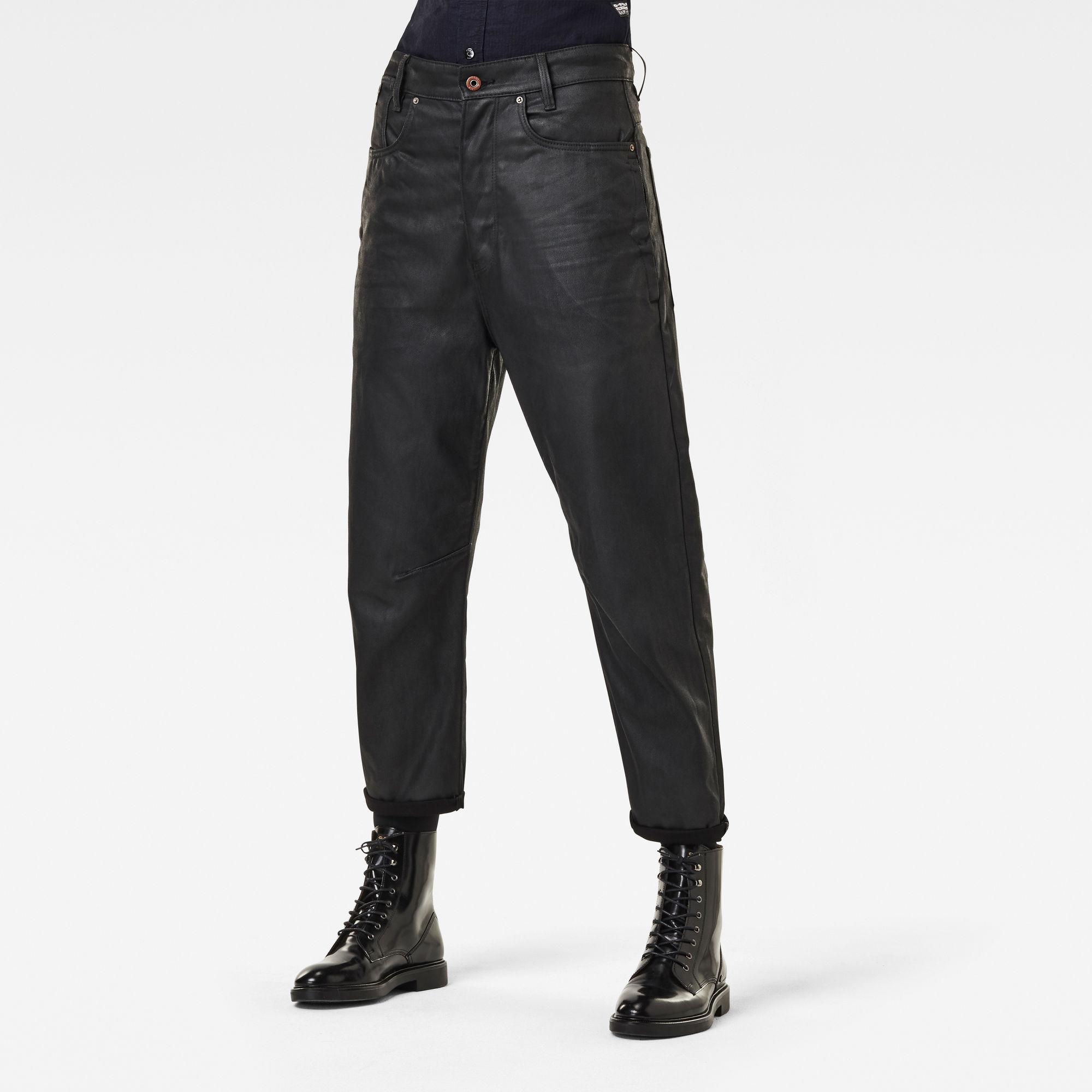 G-Star RAW Dames C-Staq 3D Boyfriend Crop Jeans Zwart