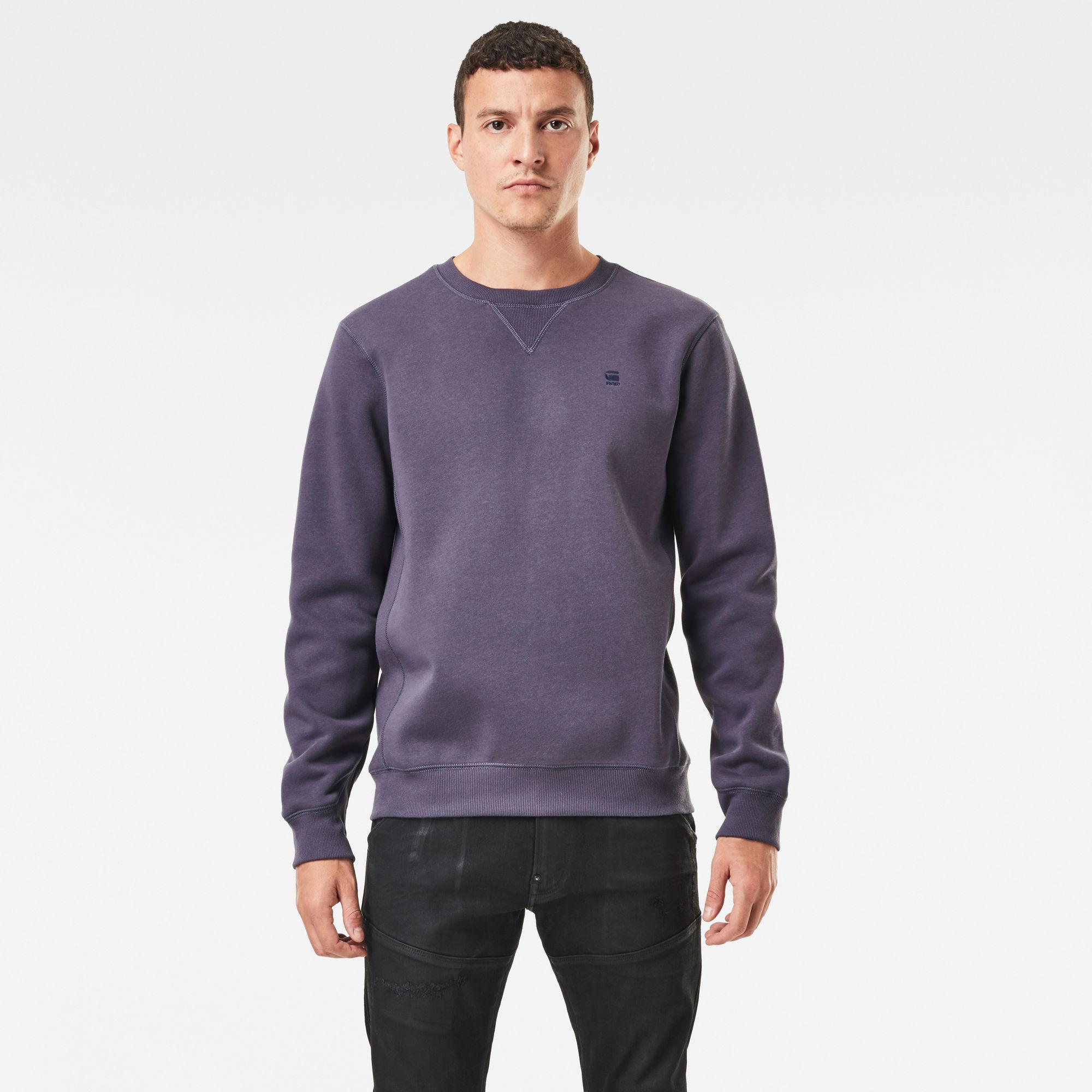 G-Star RAW Heren Premium Core Sweater Paars