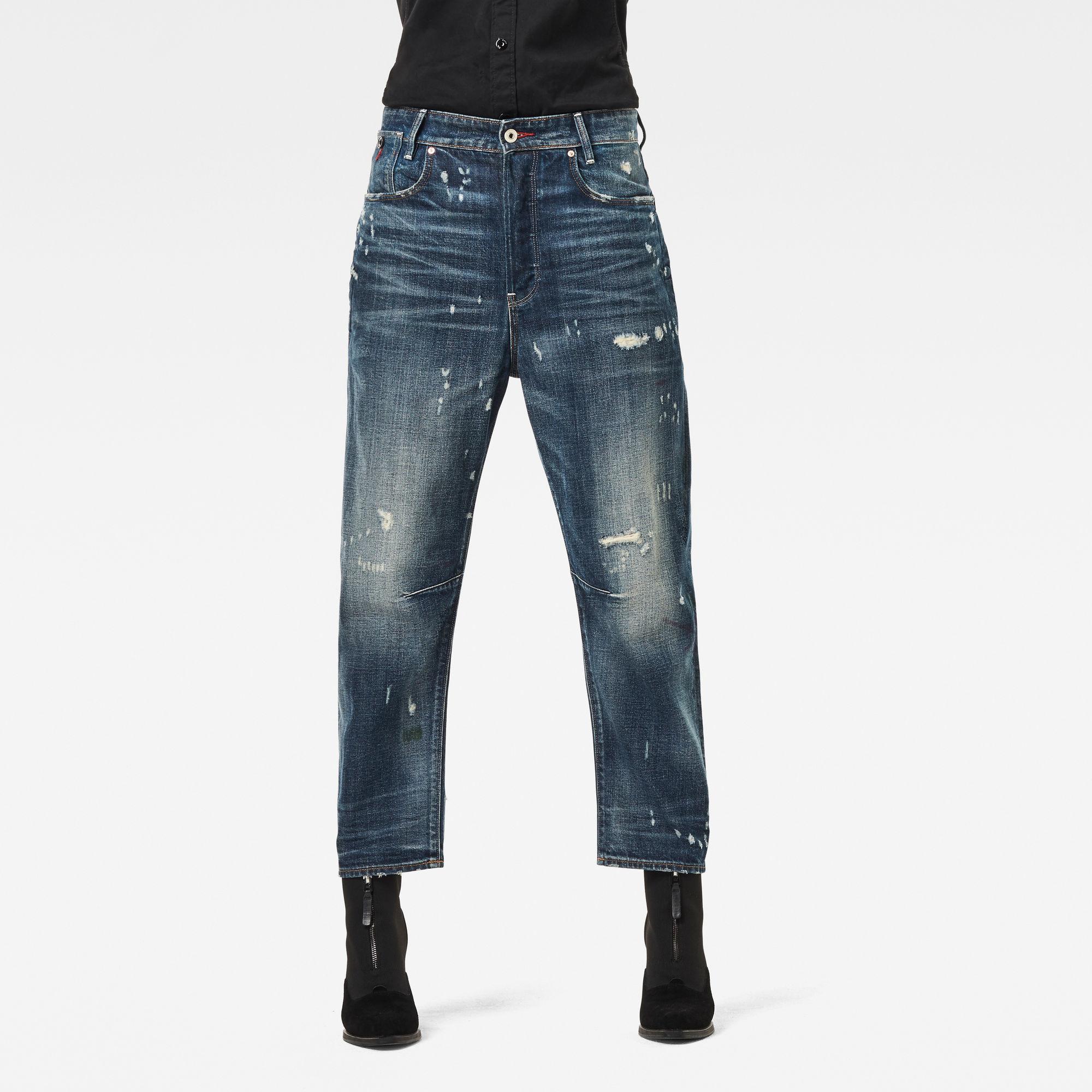 G-Star RAW Dames C-Staq 3D Boyfriend Crop Jeans Blauw