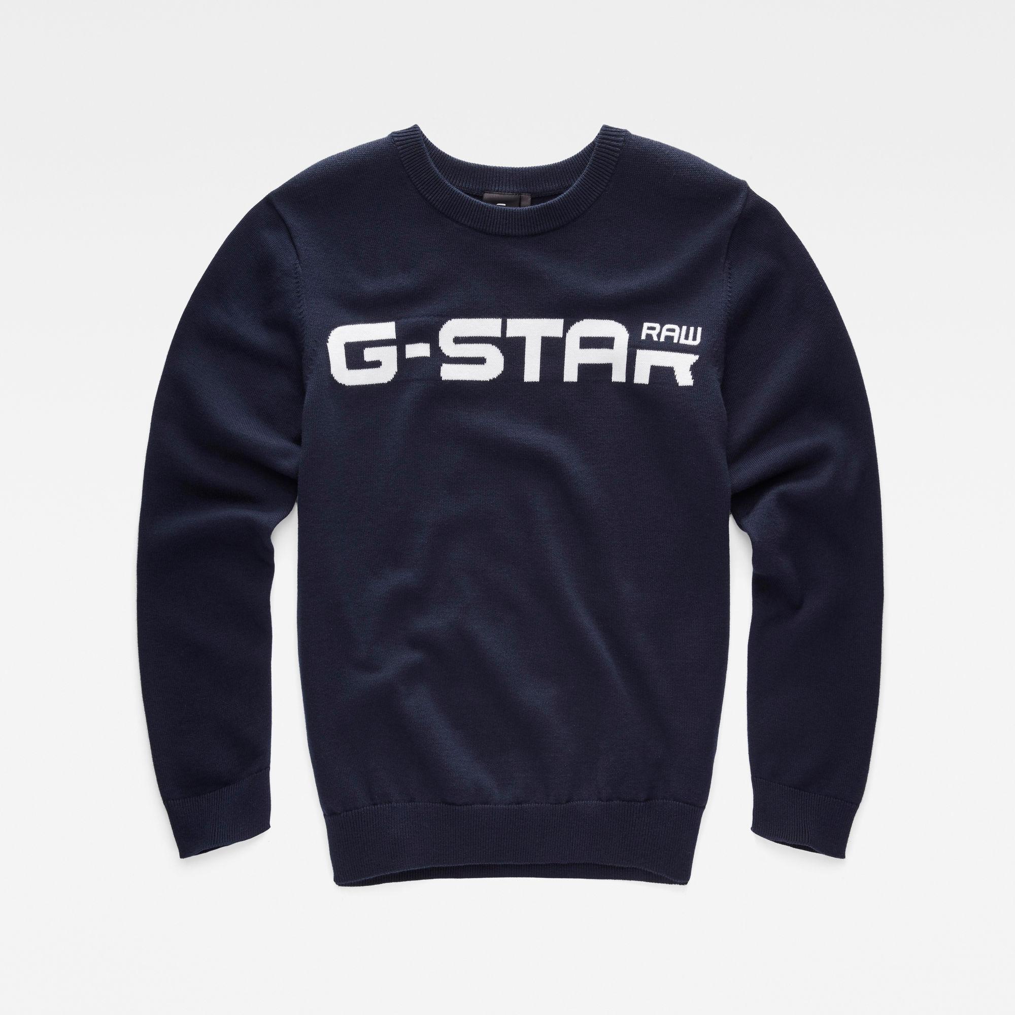 G-Star RAW Jongens Gebreide sweater Donkerblauw