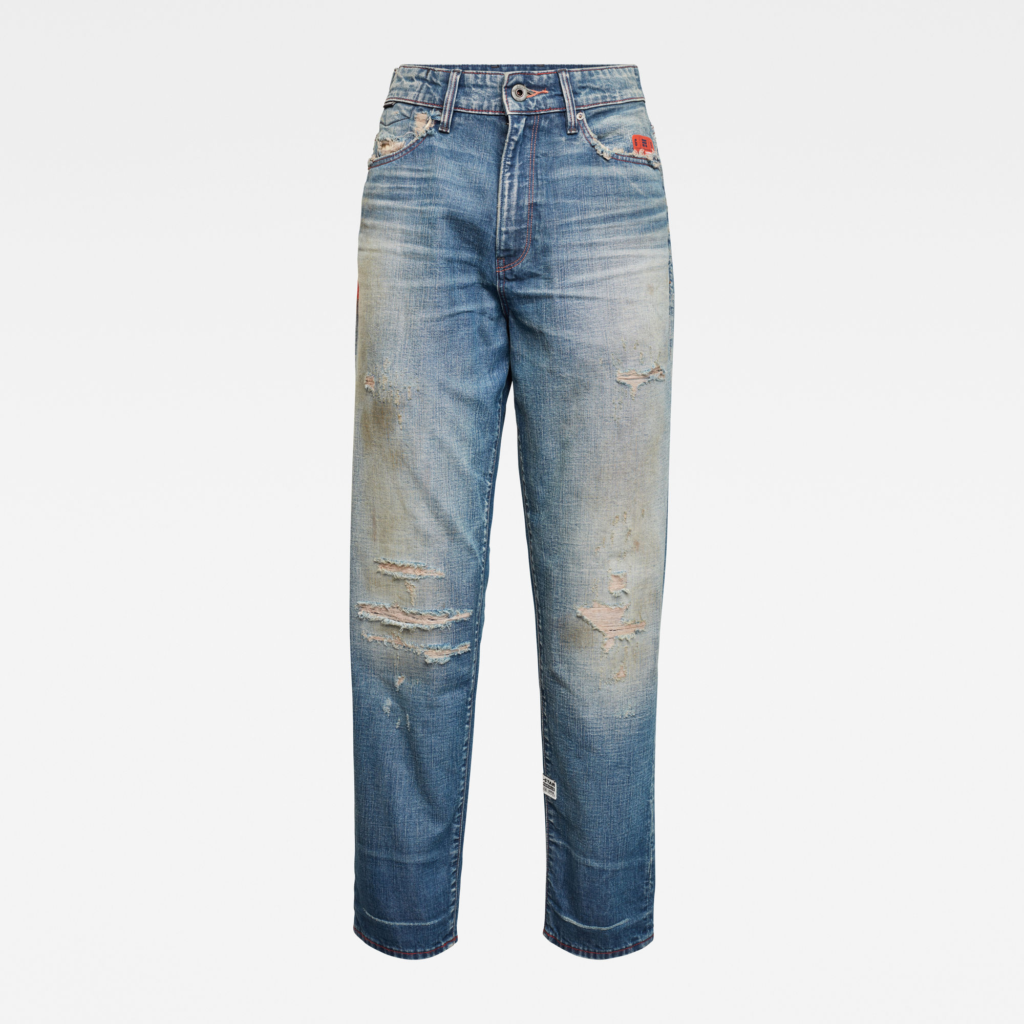 G-Star RAW Dames E Janeh Ultra High Mom Ankle Jeans Blauw