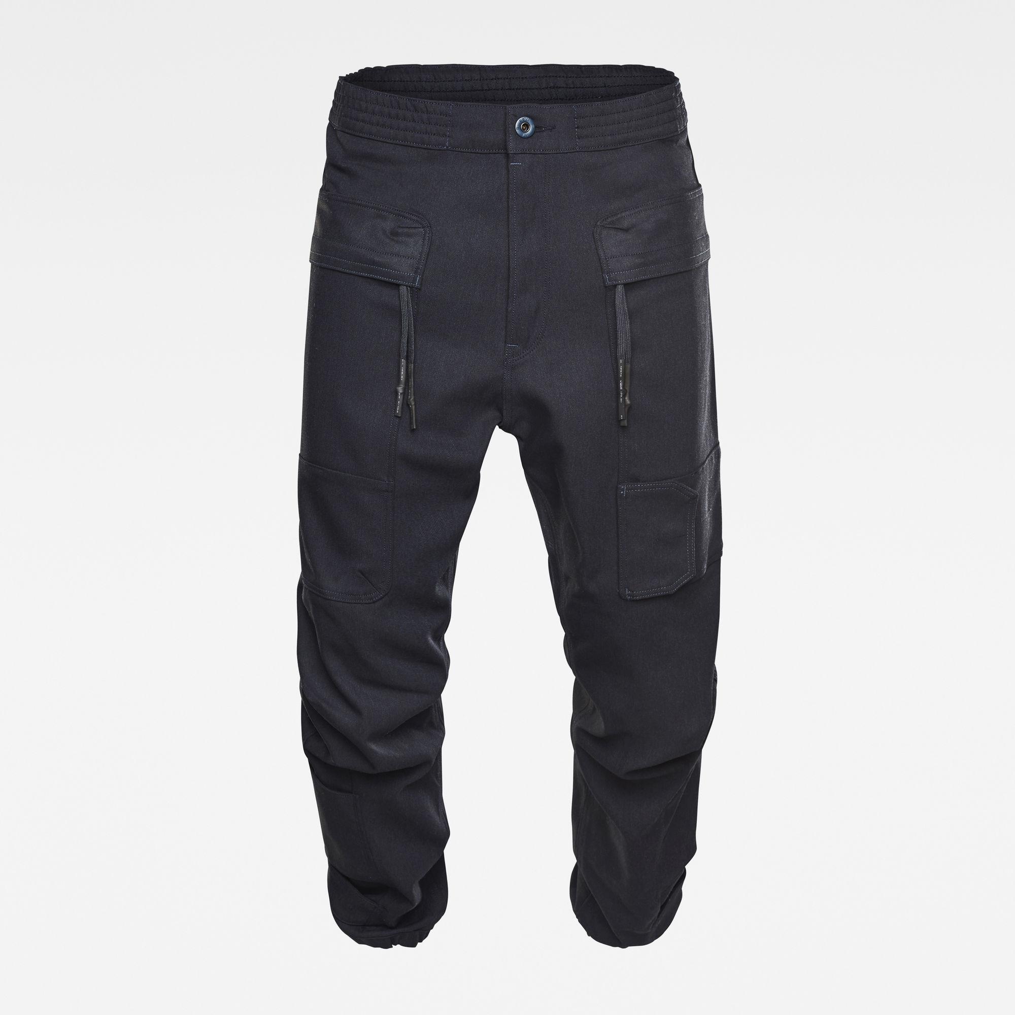 G-Star RAW Heren GSRR Cargo 3D Cuffed Jeans Donkerblauw