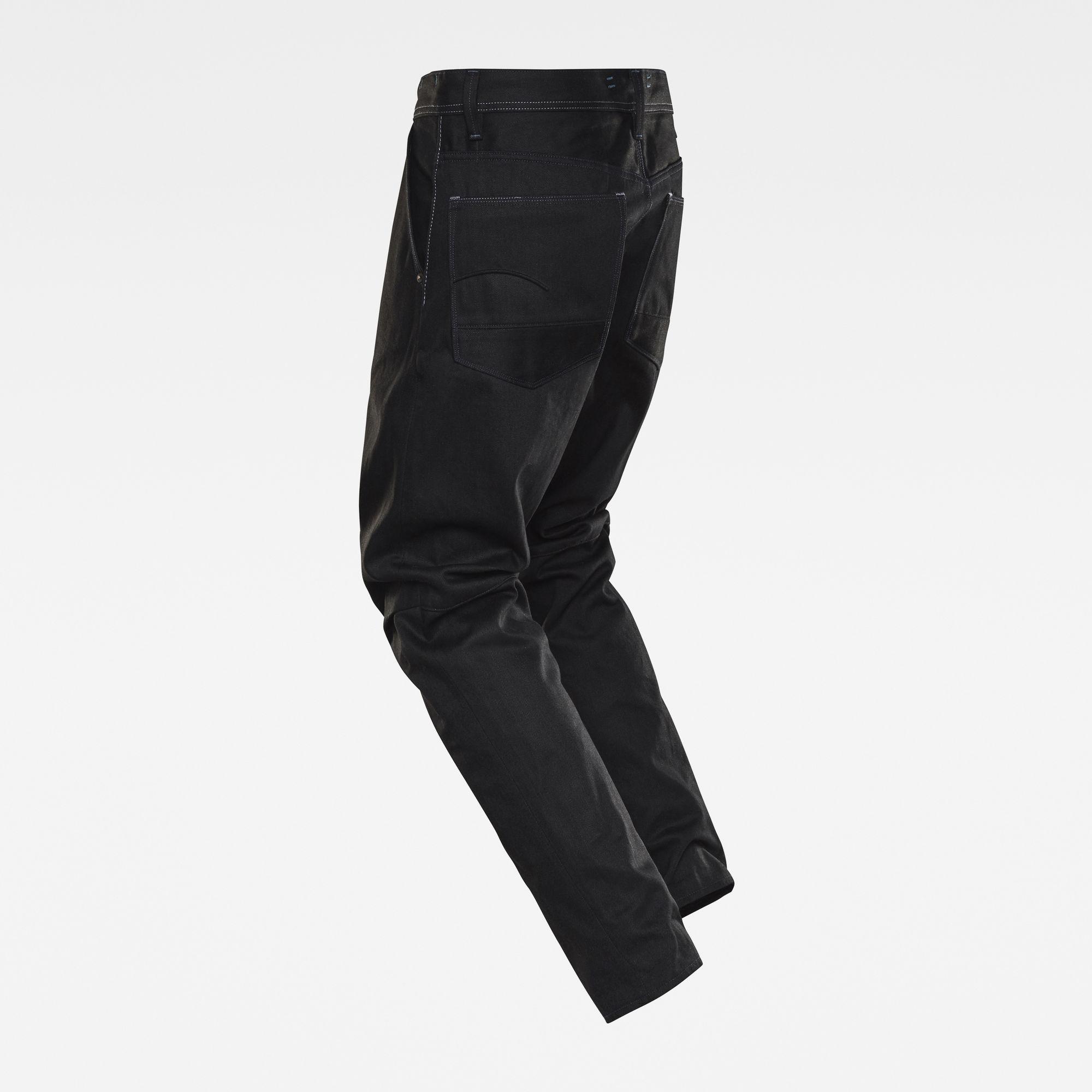 G-Star RAW Heren GSRR Grip 3D Relaxed Tapered Selvedge Jeans Zwart