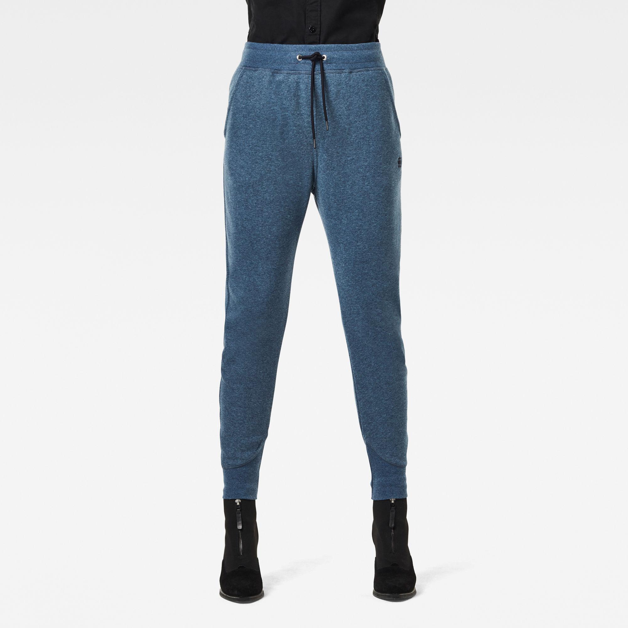 G-Star RAW Dames Premium Core 3D Tapered Sweatpants Blauw