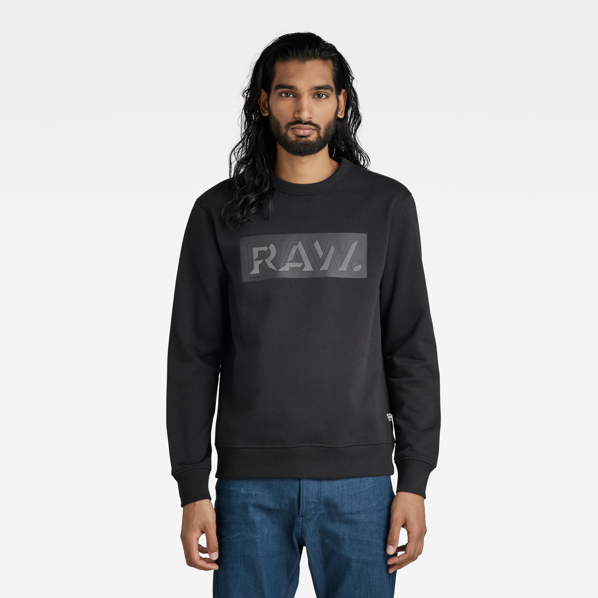 G-Star RAW Heren Raw Dot Box Graphic Sweater Zwart