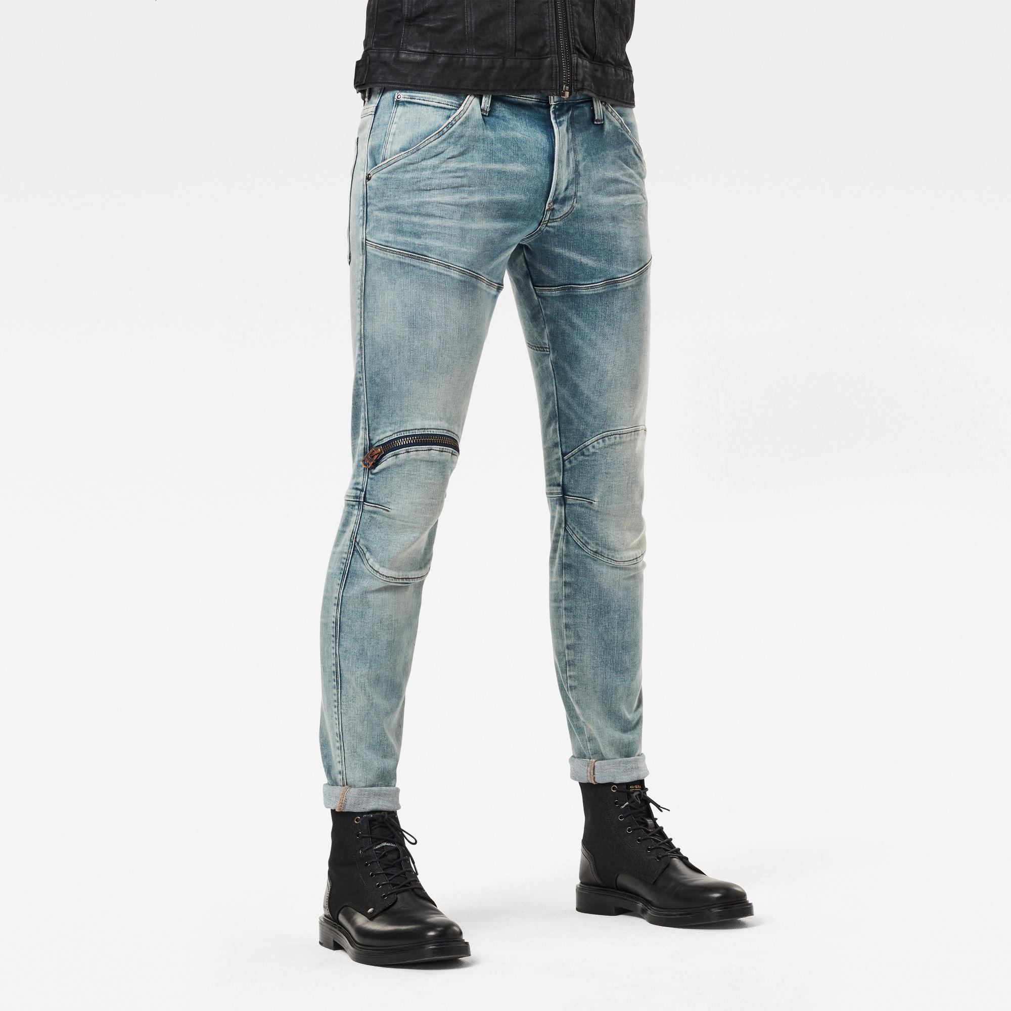 G-Star RAW Heren 5620 3D Zip Knee Skinny Jeans Lichtblauw