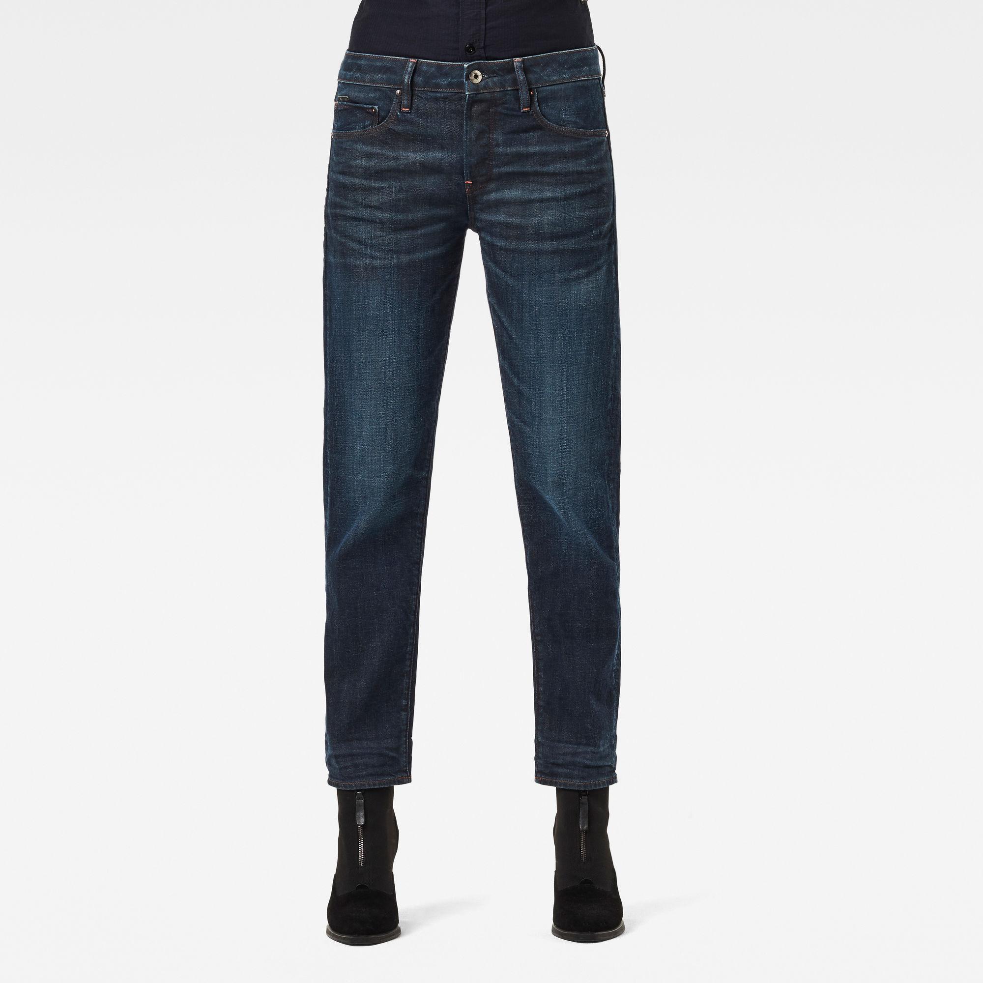 G-Star RAW Dames Kate Boyfriend Jeans C Donkerblauw