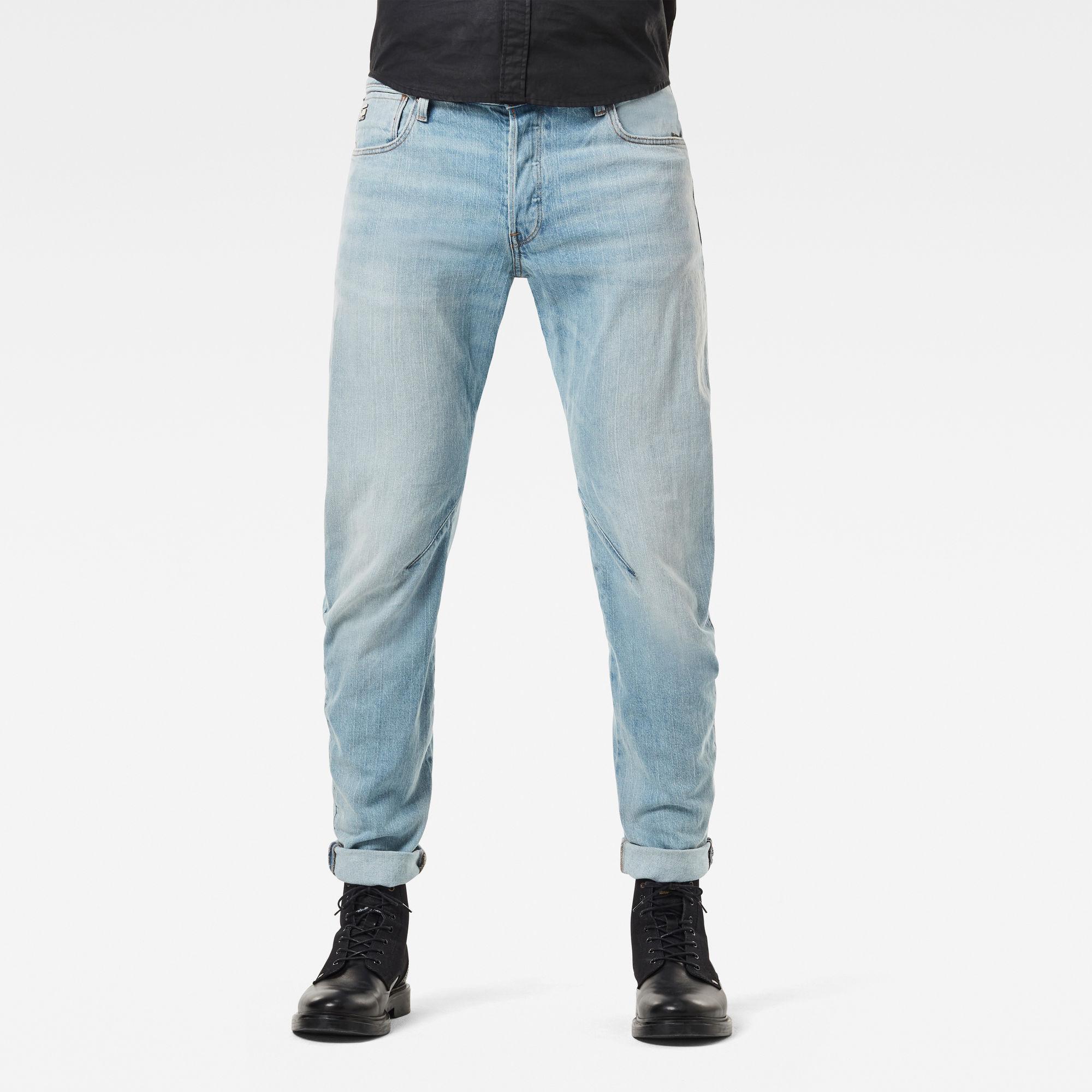 G-Star RAW Heren Arc 3D Slim Jeans Lichtblauw