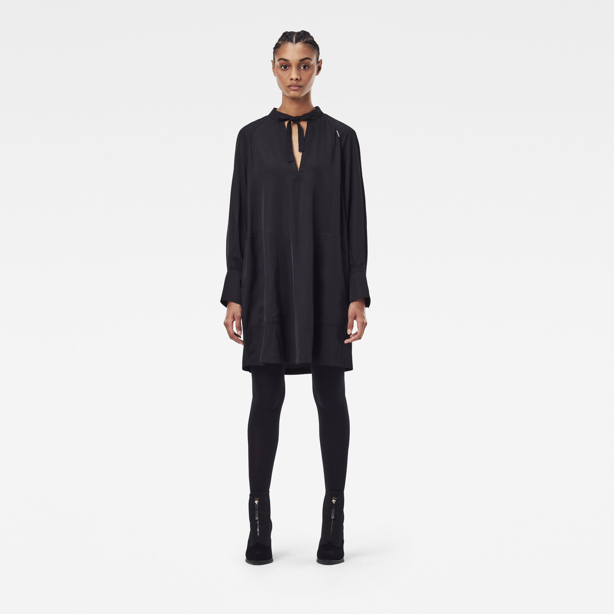 G-Star RAW Dames V-neck tunic dress Zwart